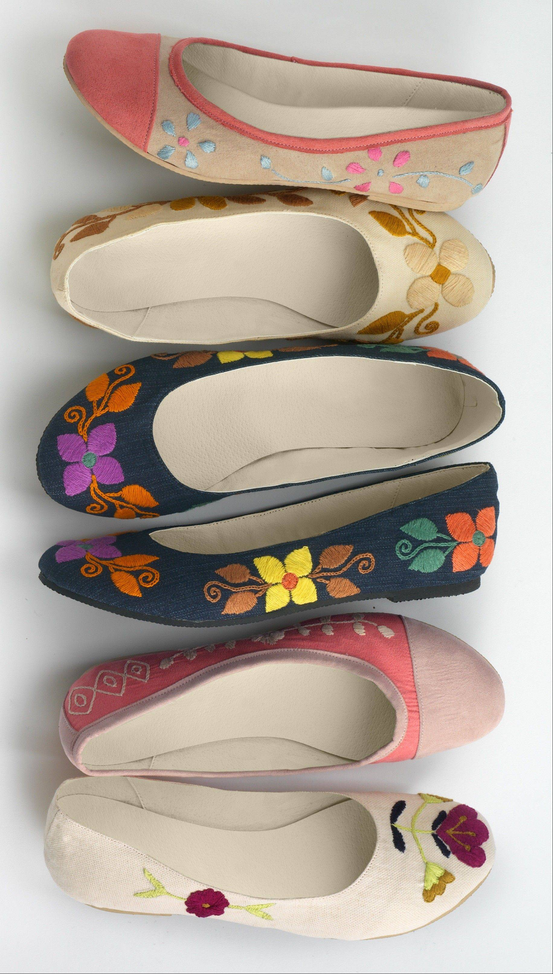 This undated product image provided by Fair Indigo shows one of the company's products. Fair Indigo is an online retailer that sells clothes and accessories that are certified by Fair Trade U.S.A., including $59.90 pima organic cotton dresses, $45.90 faux wrap skirts and $100 floral ballet flats.