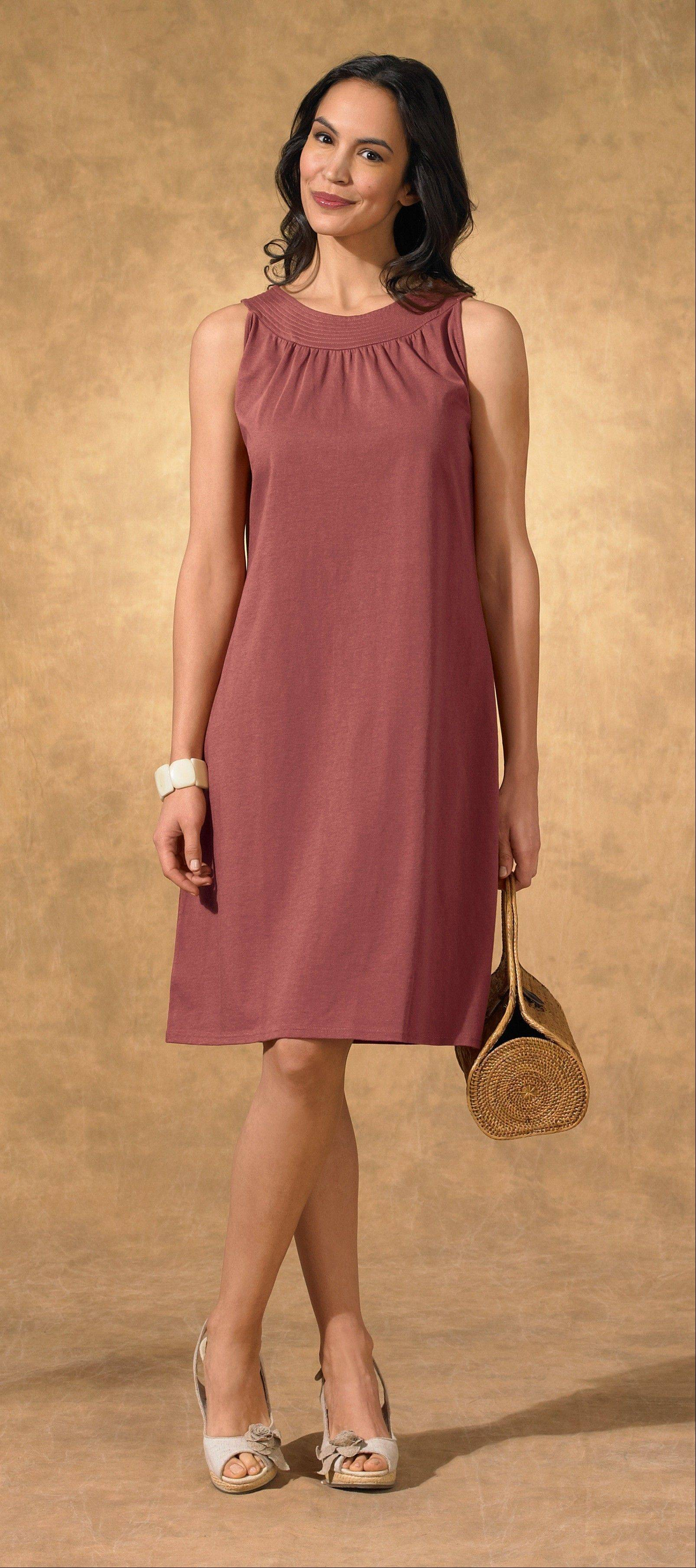 This undated product image provided by Fair Indigo shows one of the company's product. Fair Indigo is an online retailer that sells clothes and accessories that are certified by Fair Trade U.S.A., including $59.90 pima organic cotton dresses, $45.90 faux wrap skirts and $100 floral ballet flats.