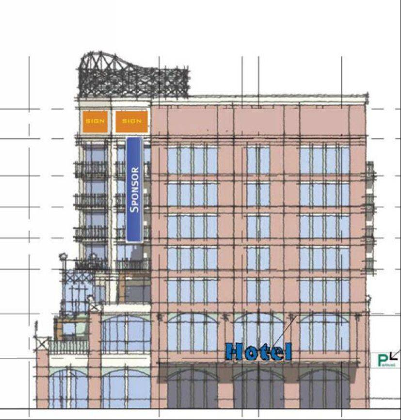 The proposed hotel near Wrigley Field