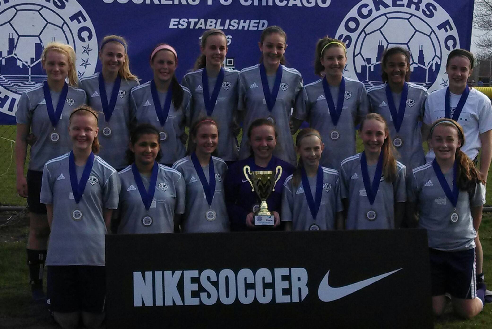 U14 Girls Elite - 1st Place at Nike Cup!