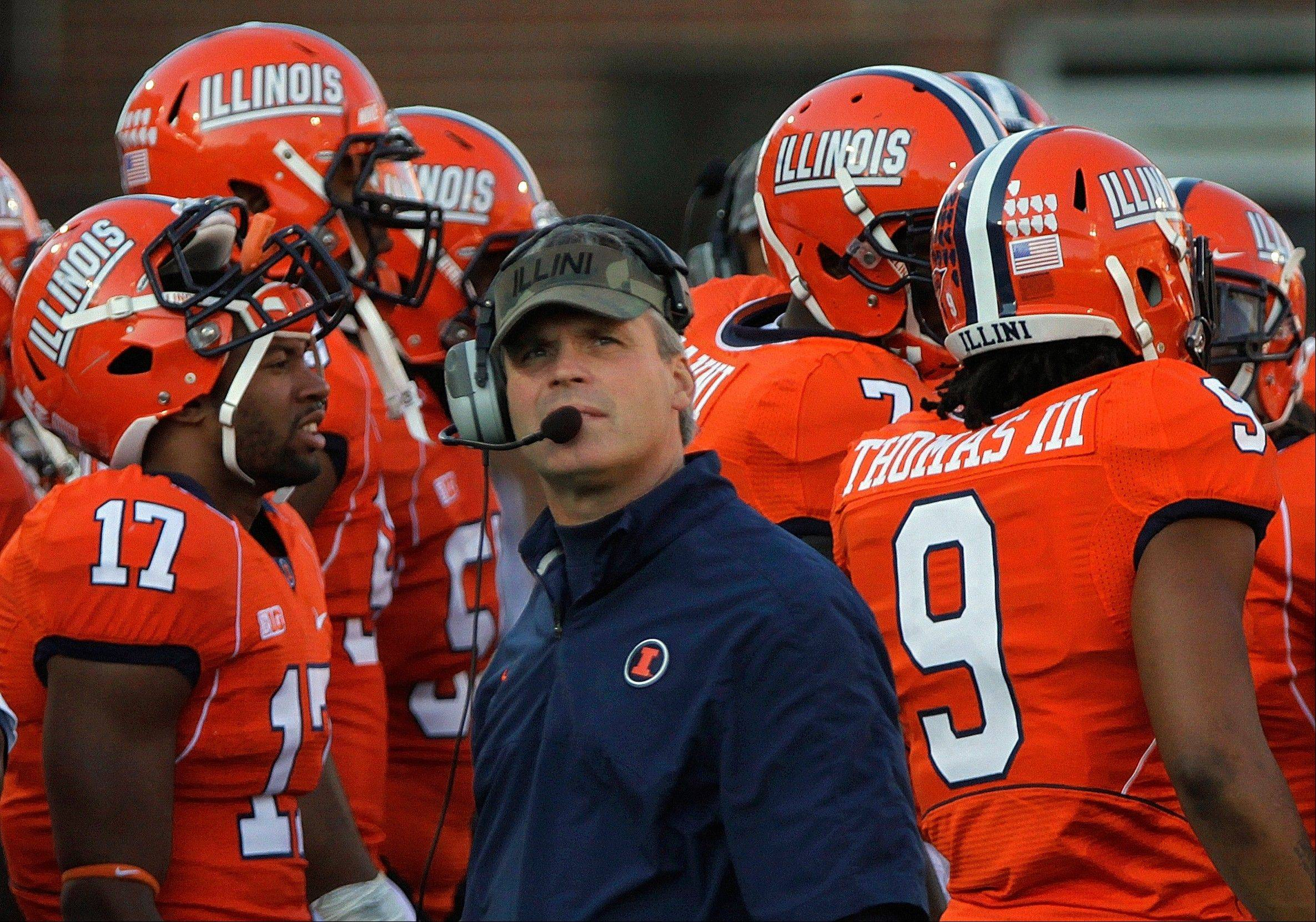 Head coach Tim Beckman and the Illini didn't win a Big Ten football game last season, Beckman's first at the helm.