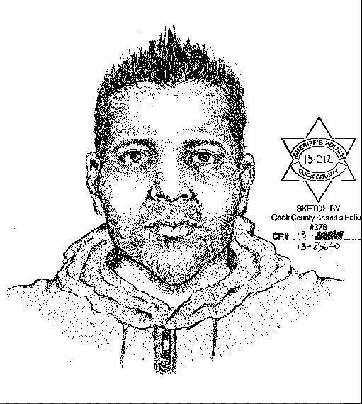 Authorities released this sketch of a man wanted in connection with the attack on a 12-year-old girl near Des Plaines Wednesday.