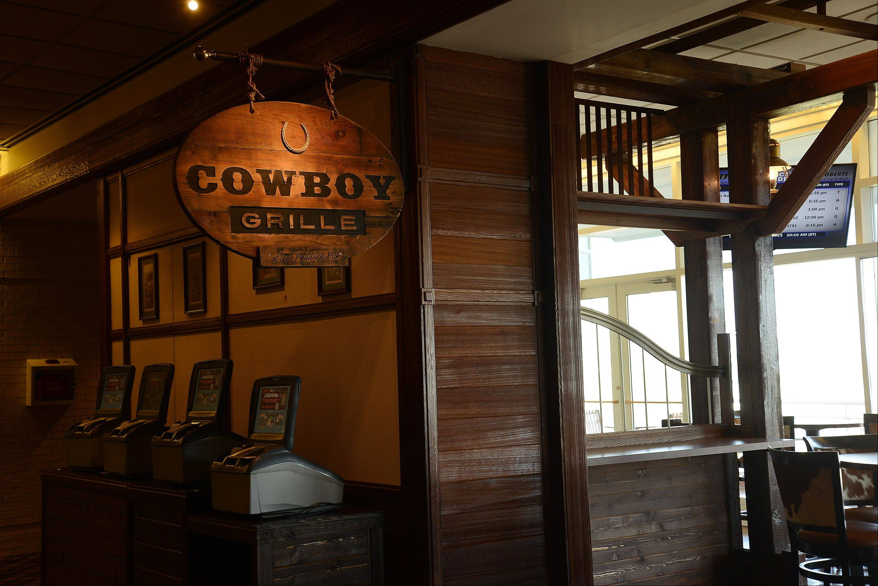 The new Cowboy Grille, which replaces the Paddock Pub this season, is ready for opening day at Arlington International Racecourse.