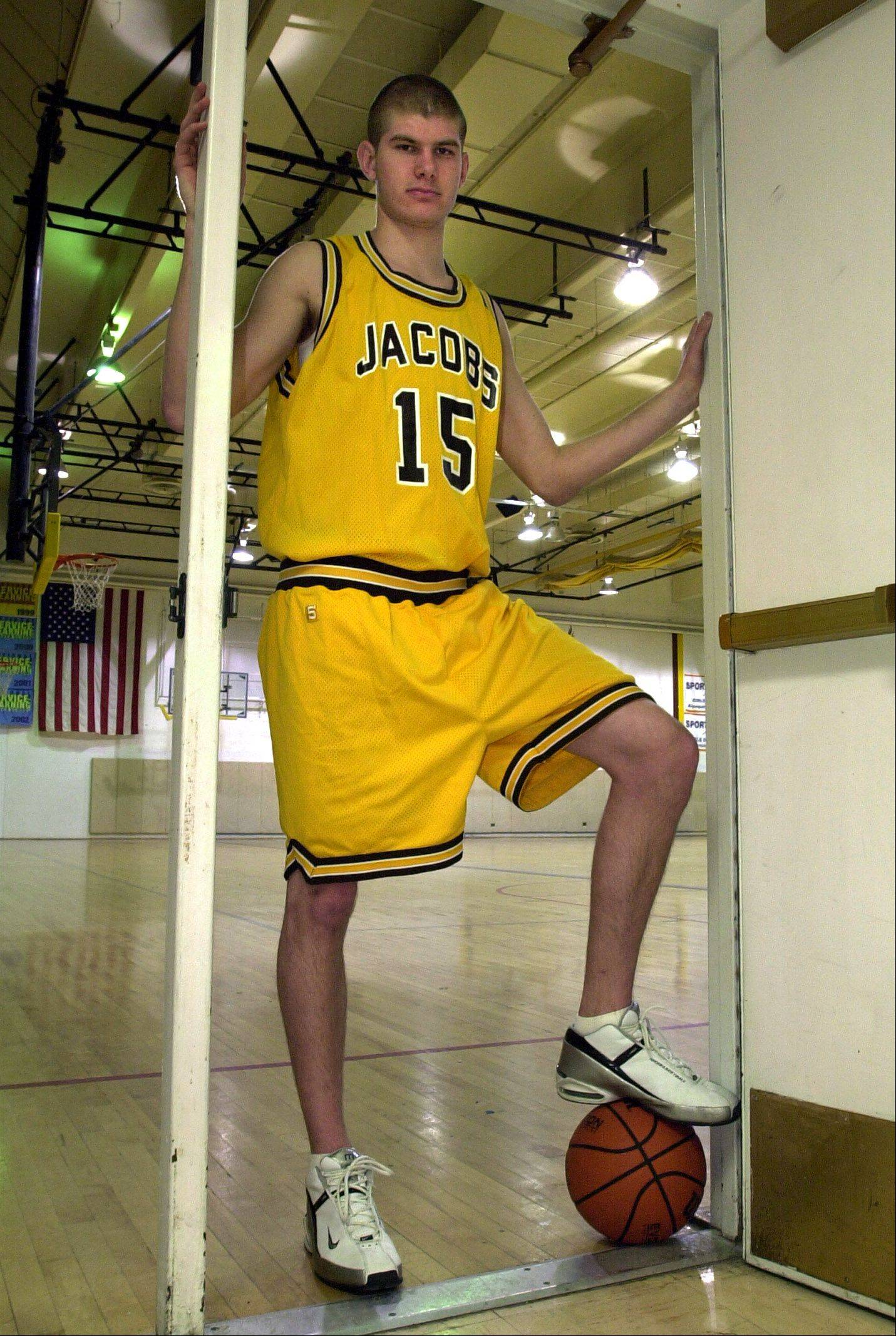 Jacobs graduate Eric Verneisel was the Fox Valley all-area boys basketball captain for 2002-2003. He will be inducted into the Jacobs Athletic Hall of Fame this fall.