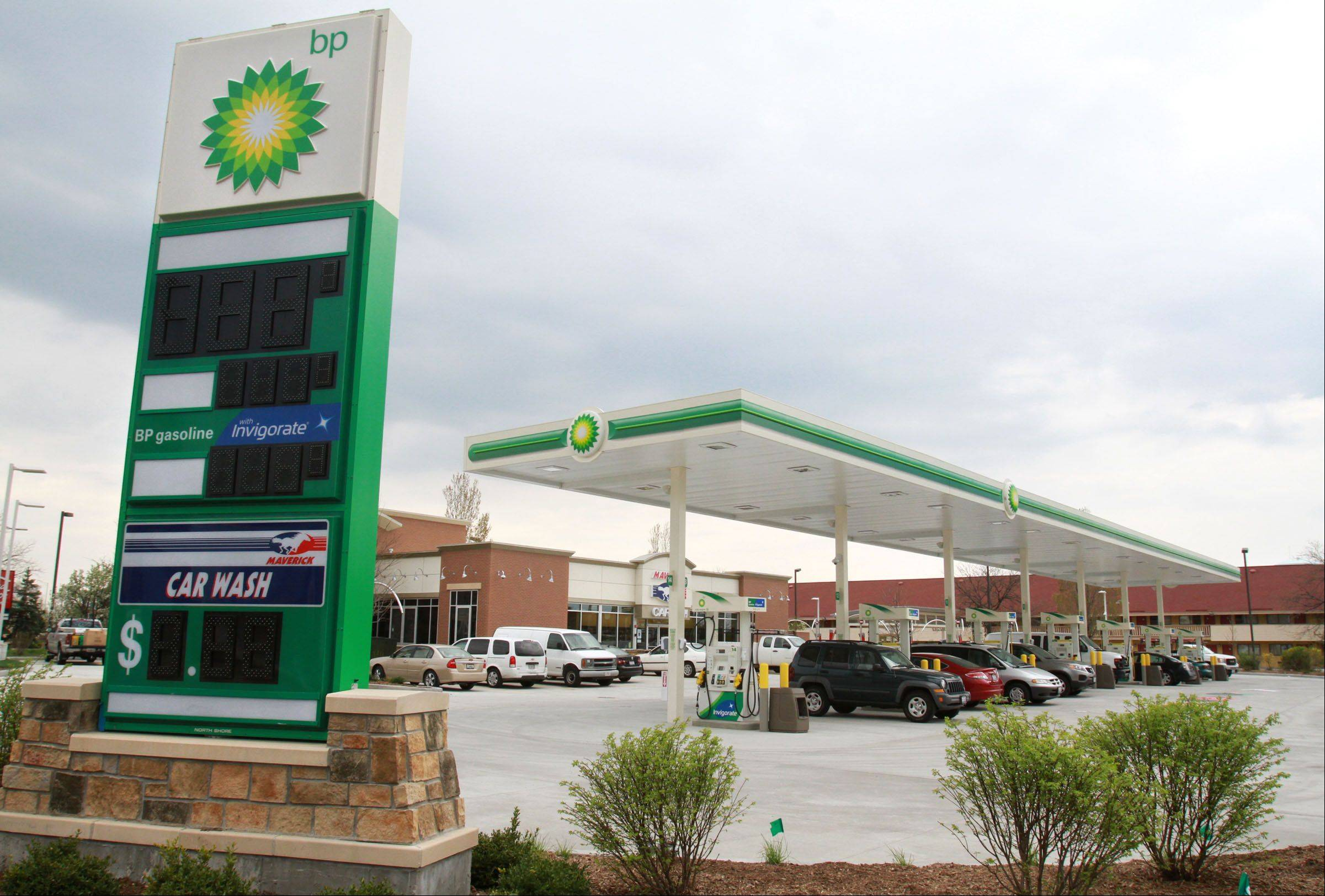 The new BP gas station and car wash at Arlington Heights and Algonquin roads in Arlington Heights look just about ready to open.