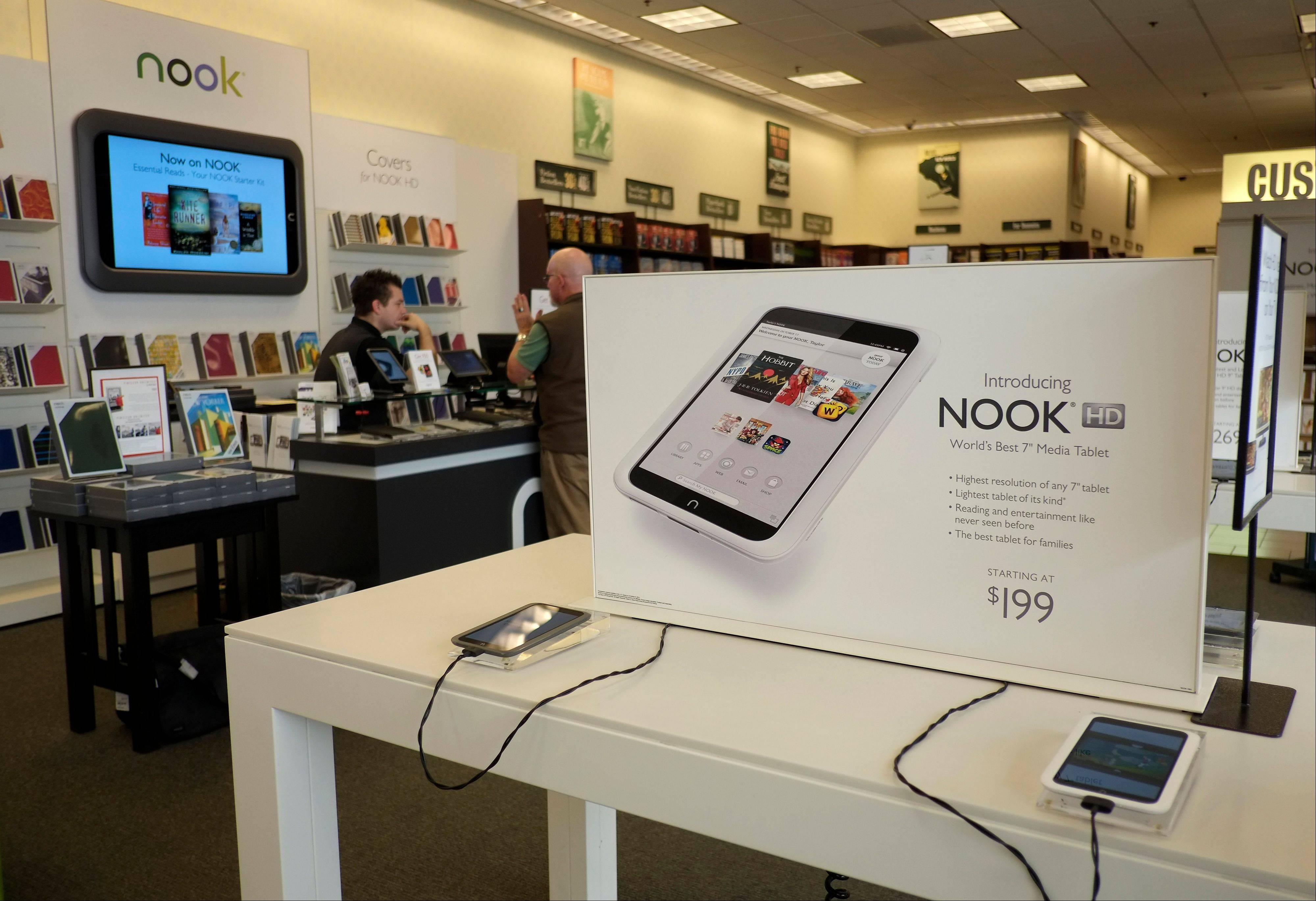Barnes & Noble is teaming up with Google to vastly increase the number of apps available on its Nook HD tablets. The bookstore chain says it will add Google�s Play app store to its Nook HD and HD+ products via a software update on Friday.