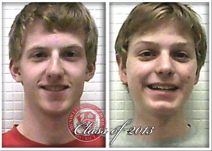 Stephen Slaughter, left, and John Syme are valedictorians for the Mundelein High School Class of 2013.