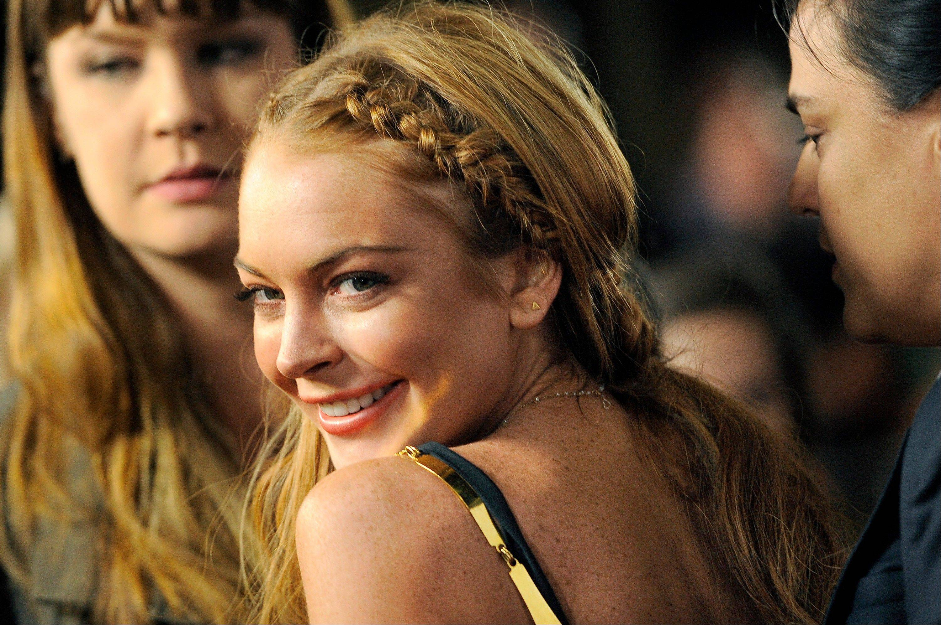 Actress Lindsay Lohan, a cast member in �Scary Movie V,� at the premiere of the film in Los Angeles.