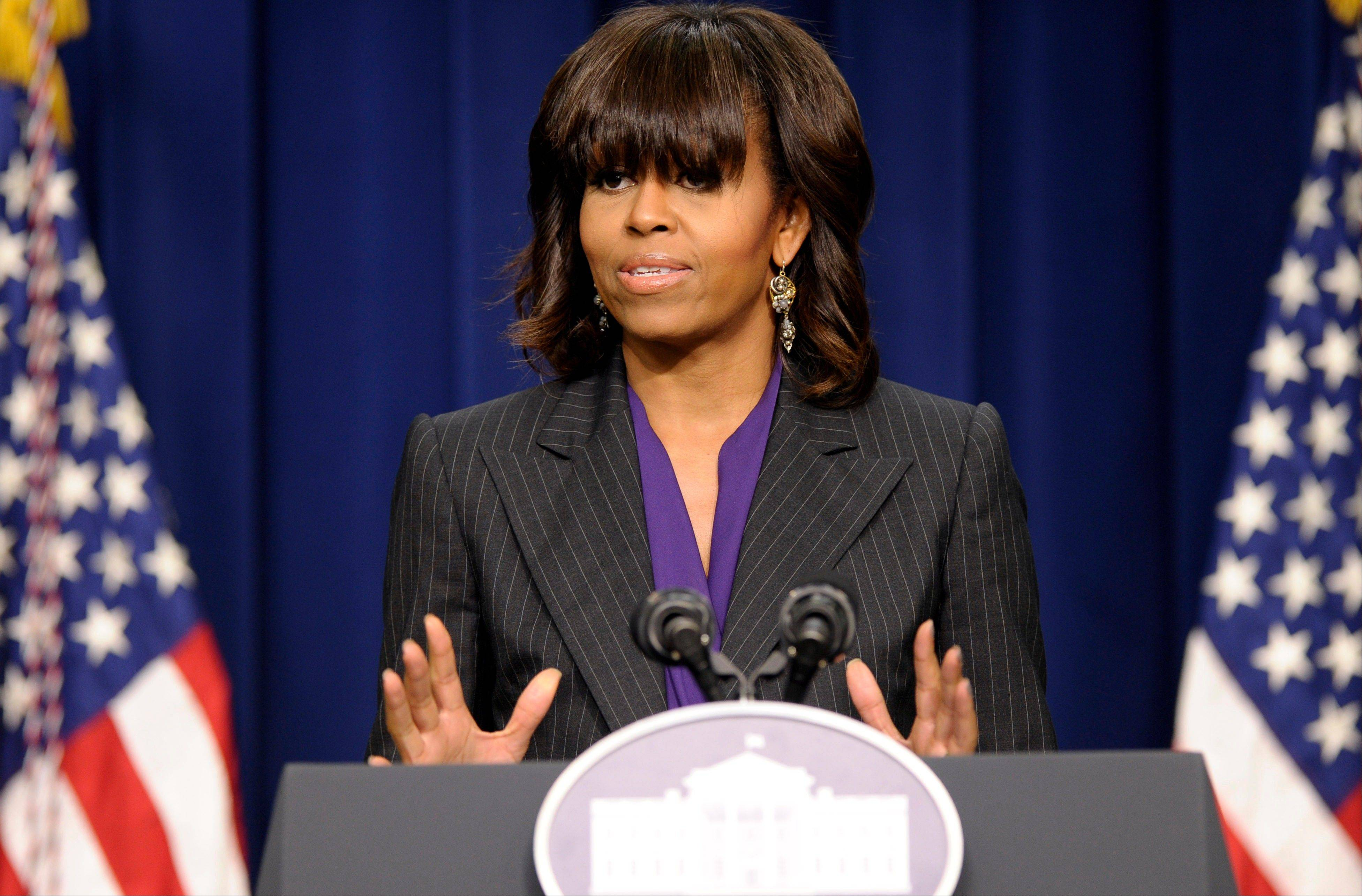 First lady Michelle Obama will present an award to the Waukegan Public Library on Wednesday at the White House.