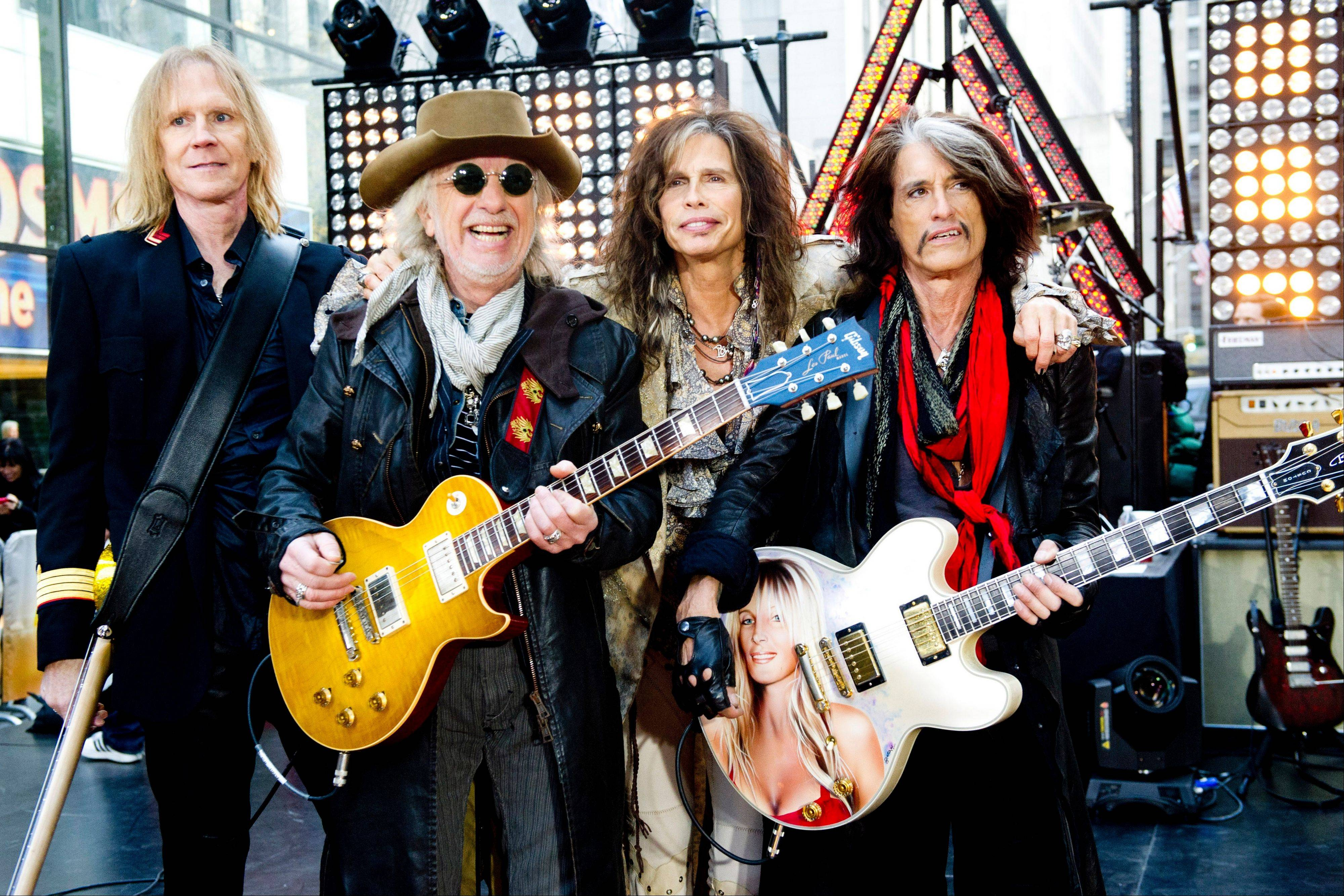 Aerosmith -- Tom Hamilton, left, Brad Whitford, Steven Tyler and Joe Perry -- will join other big name performers during a Boston Marathon benefit concert May 30.