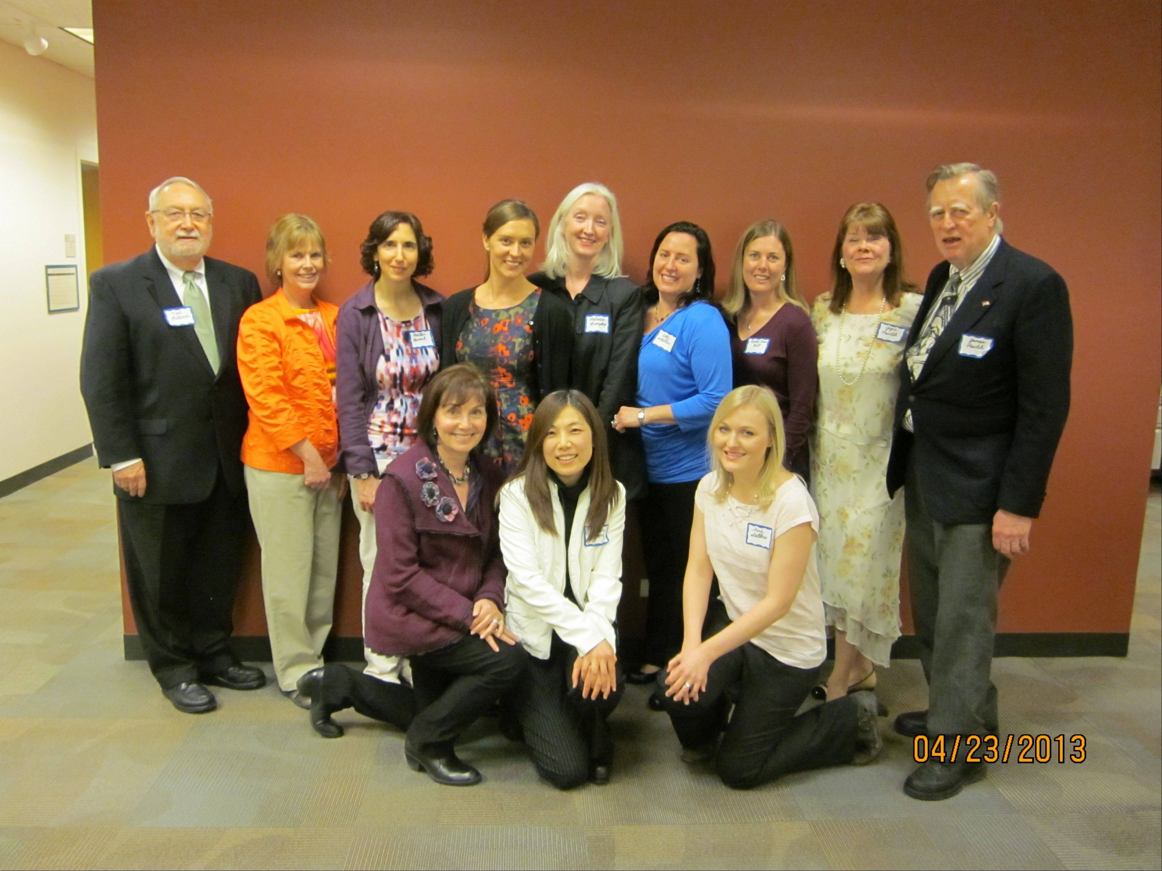Pictured with author Vanessa Diffenbaugh are Alli Schiller, Carol K Wells, Esther Moon, Carrie Ann Hill, Heather Resnick, James R. Pawlik, Joyce C. Pawlik, Patty Colabuono, Tara Sellers, Patricia J. Murphy, and Ted Balcom, who served as host and moderator for the evening program.
