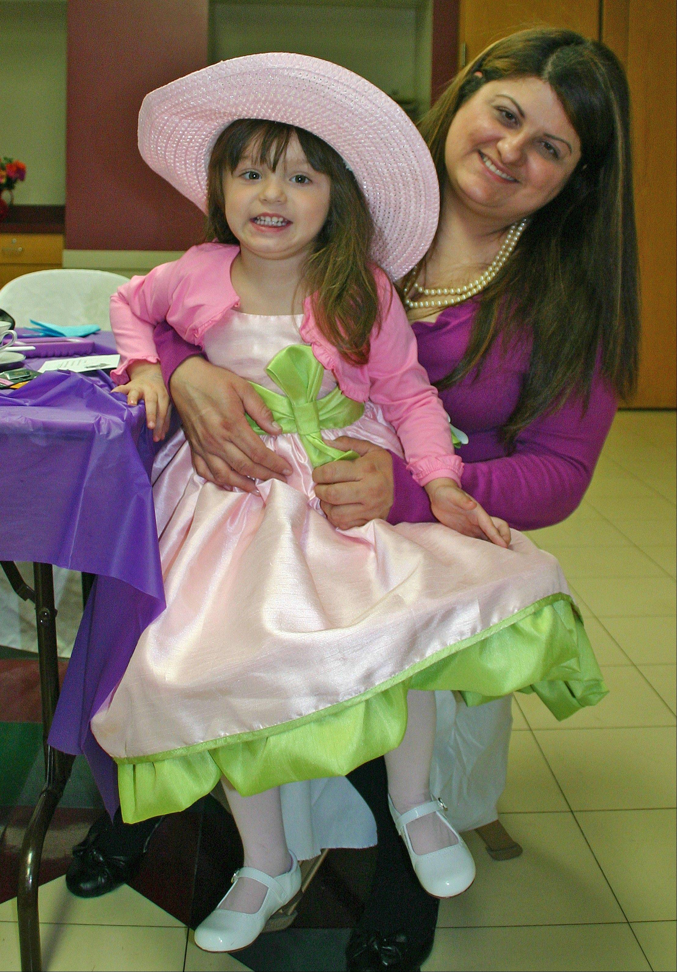 Galilea and Carmina Gonzalez enjoy a mother daughter day at Tea for Two on April 13.