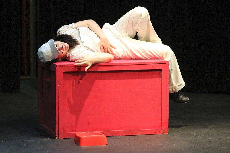 "Geanna Frank plays Snoopy in the Harper College Theatre Club production of ""You're a Good Man Charlie Brown."""