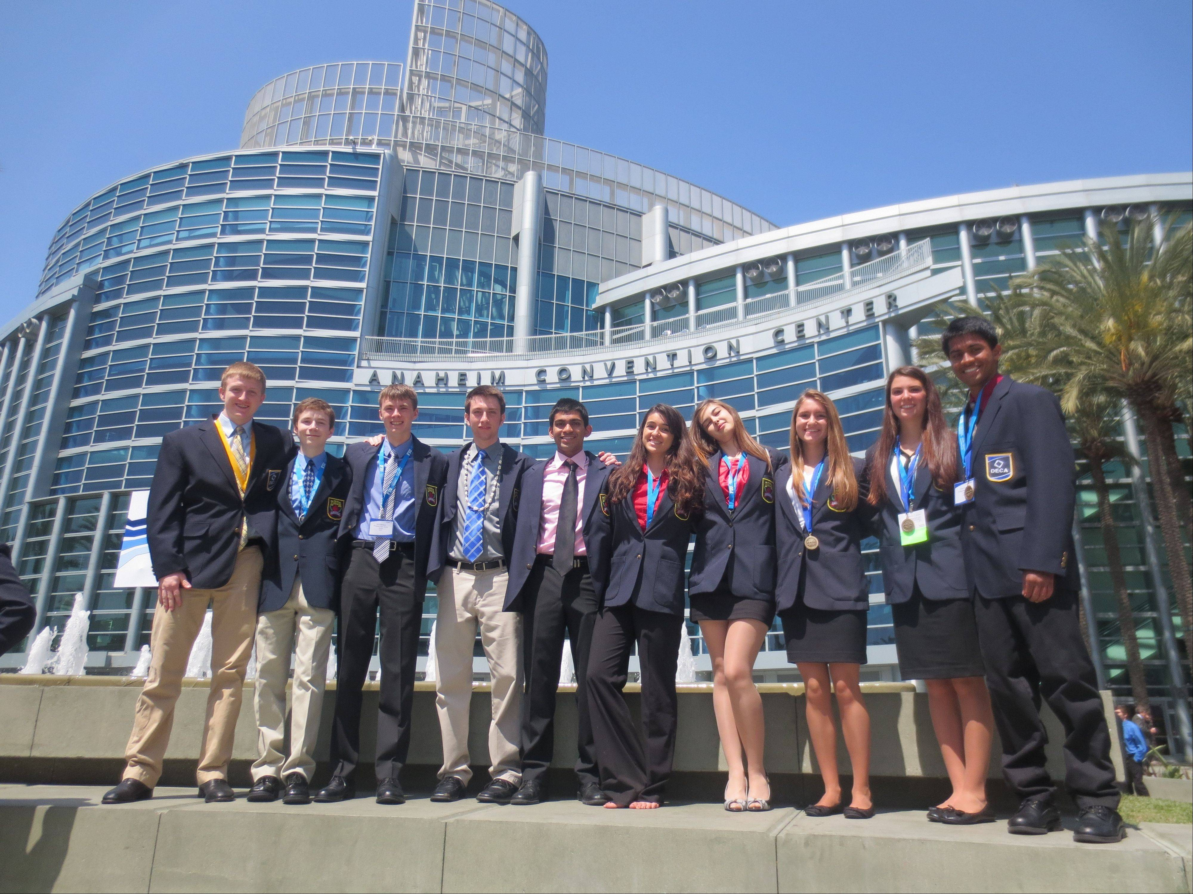 Prospect, Hersey and Rolling Meadows students attended the DECA International Career Development Conference in Anaheim, Calif., April 24-27.
