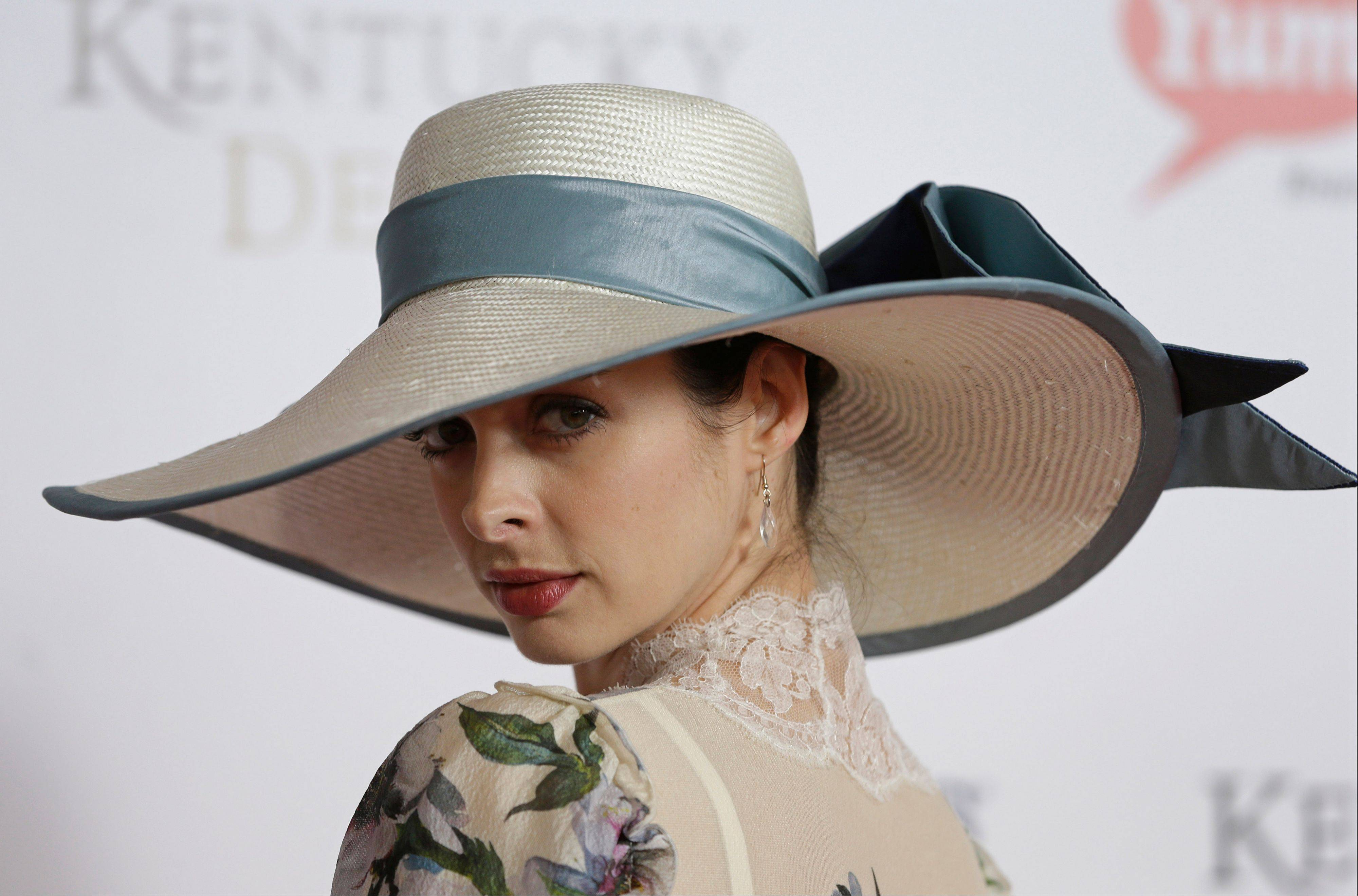 Actress Kyrsten Ritter arrives to attend the 139th Kentucky Derby at Churchill Downs Saturday.