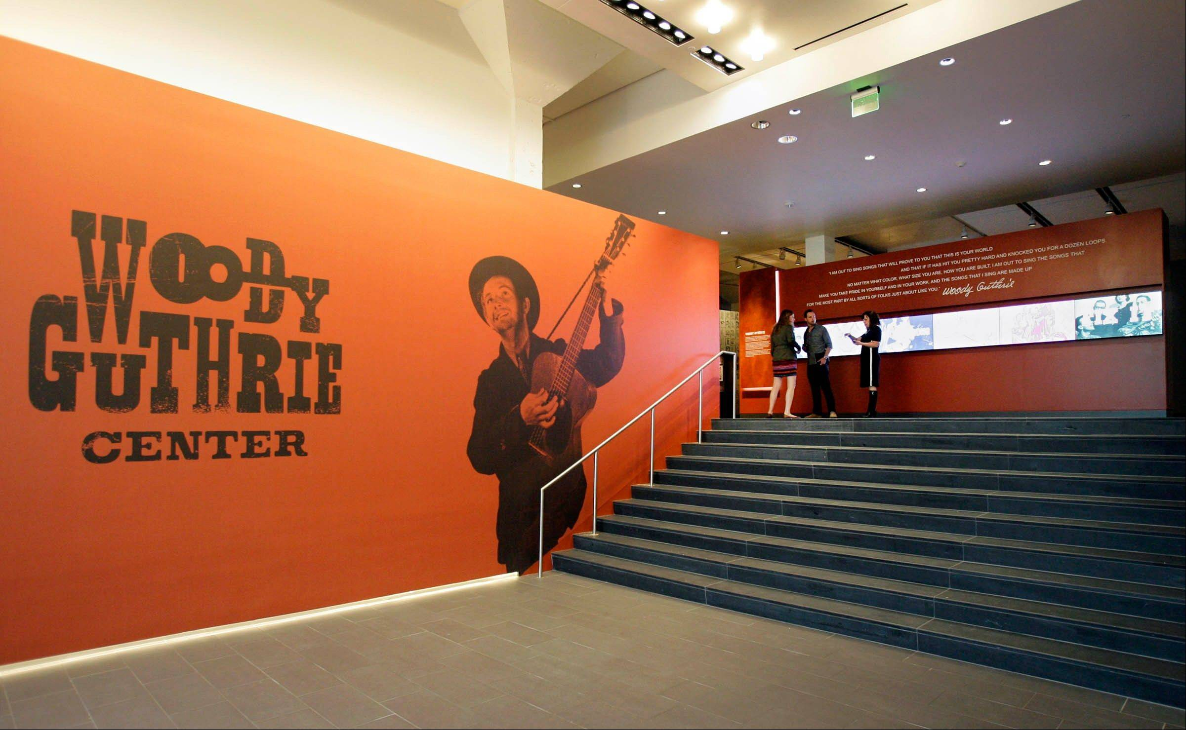 The main entrance lobby of the Woody Guthrie Center.
