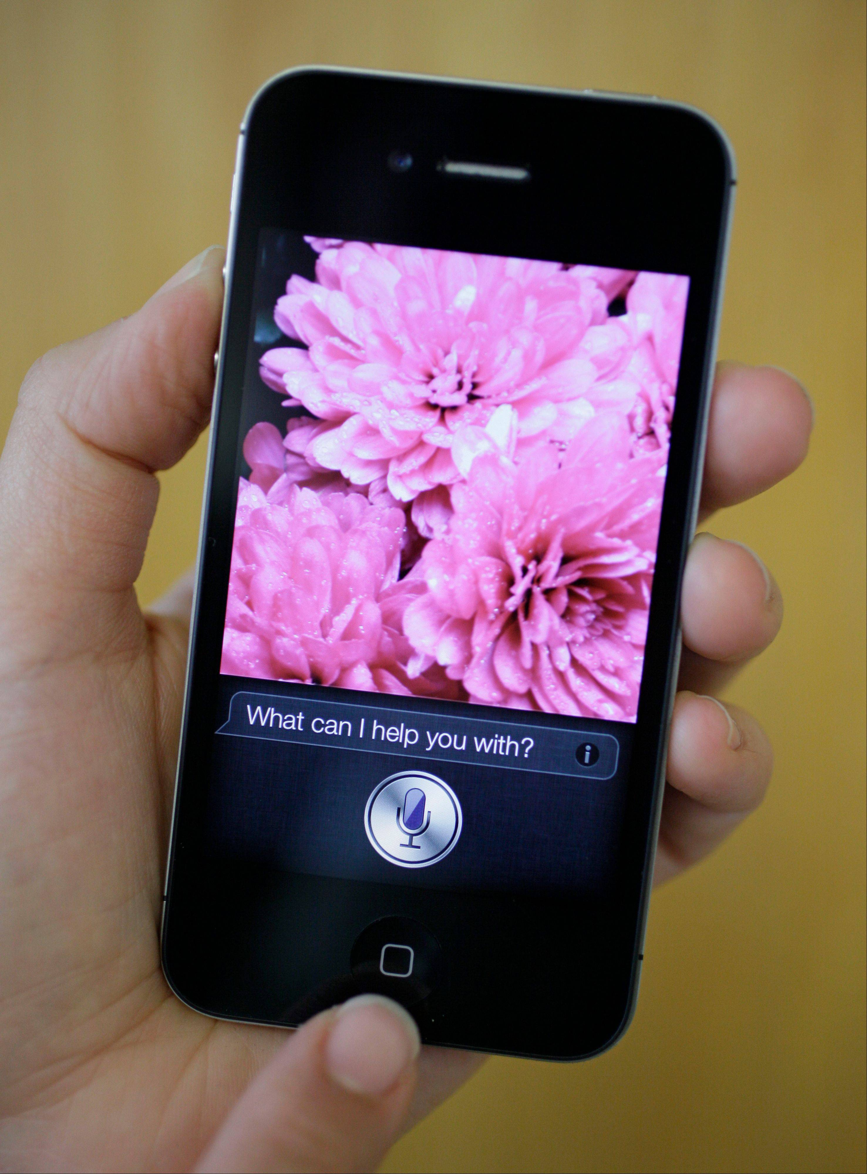 Siri, the new virtual assistant, is displayed on the new Apple iPhone 4S in San Francisco.