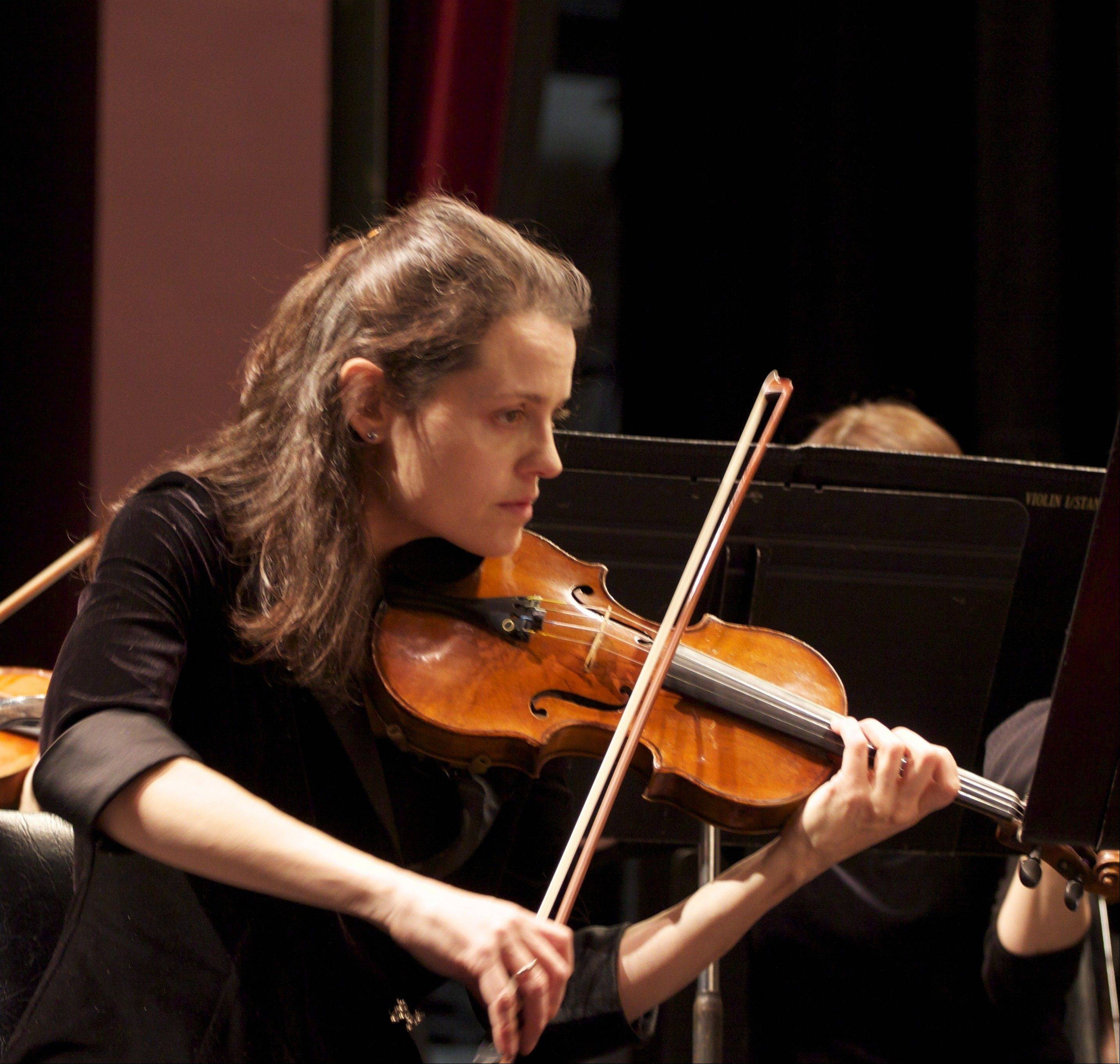 Violin soloist Isabella Lippi performs with the Elgin Symphony Orchestra this weekend at the Hemmens Cultural Center in Elgin.