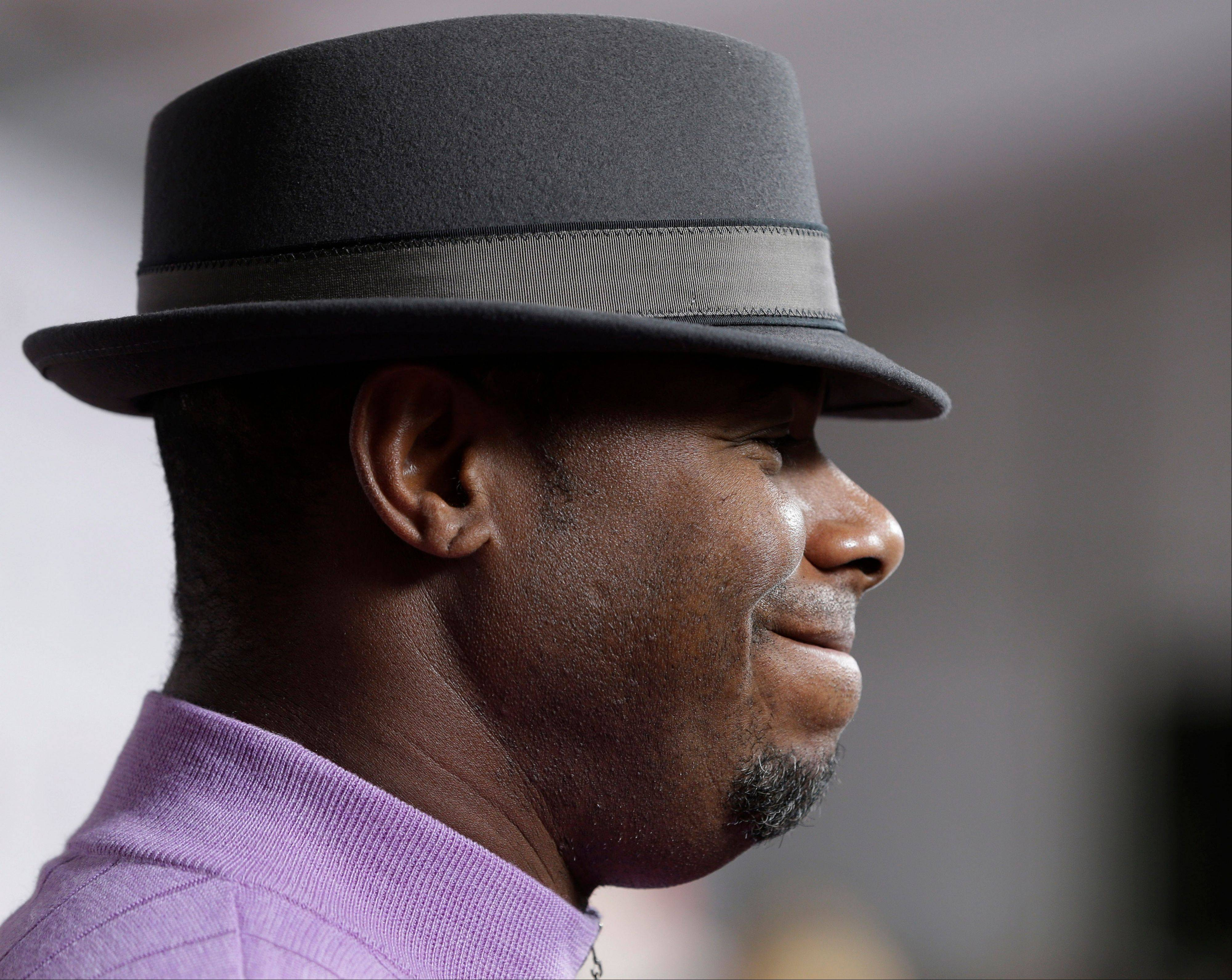 Former professional baseball player Ken Griffey Jr. arrives to attend the 139th Kentucky Derby.