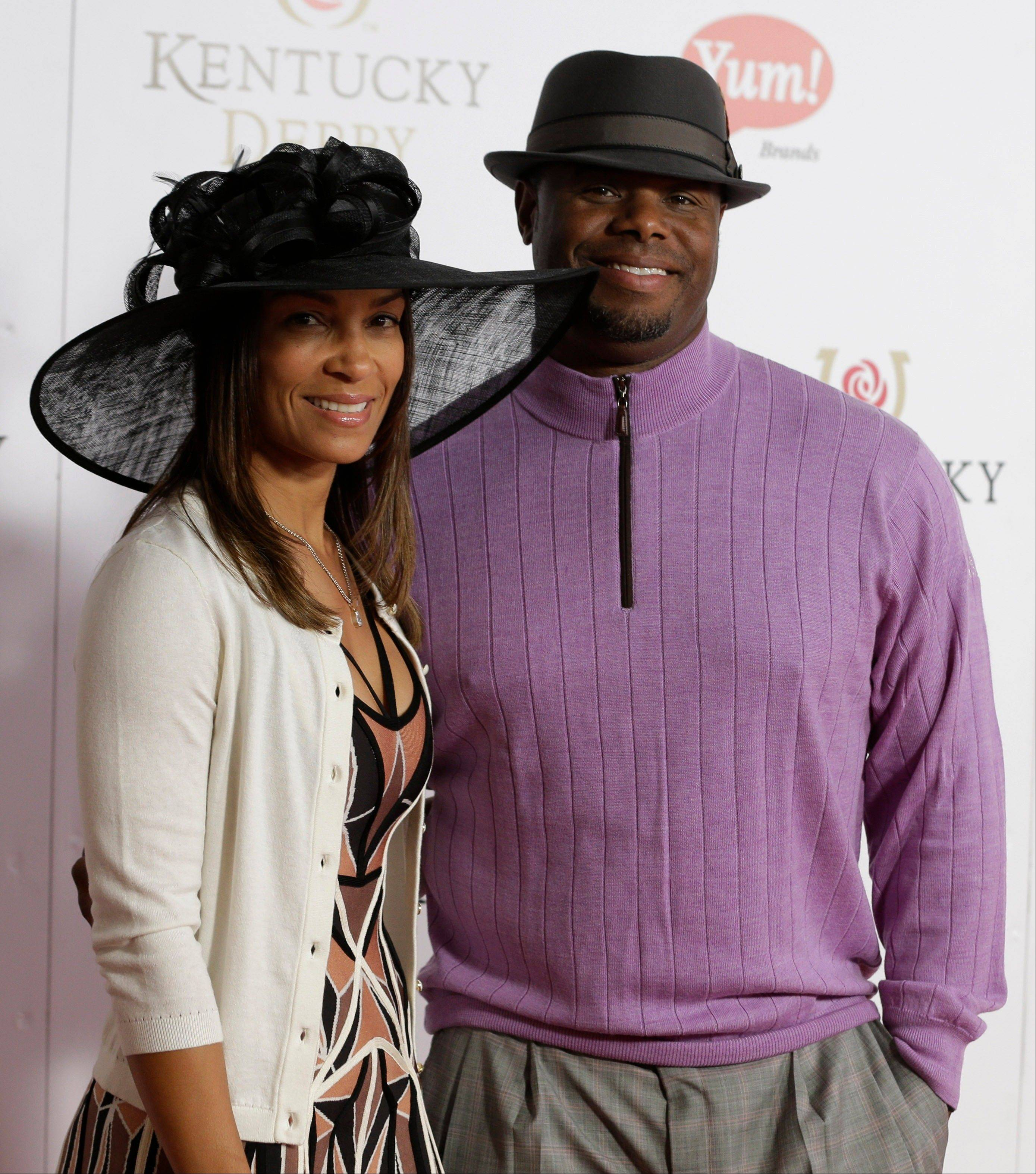 Former professional baseball player Ken Griffey Jr. arrives with his wife Melissa.