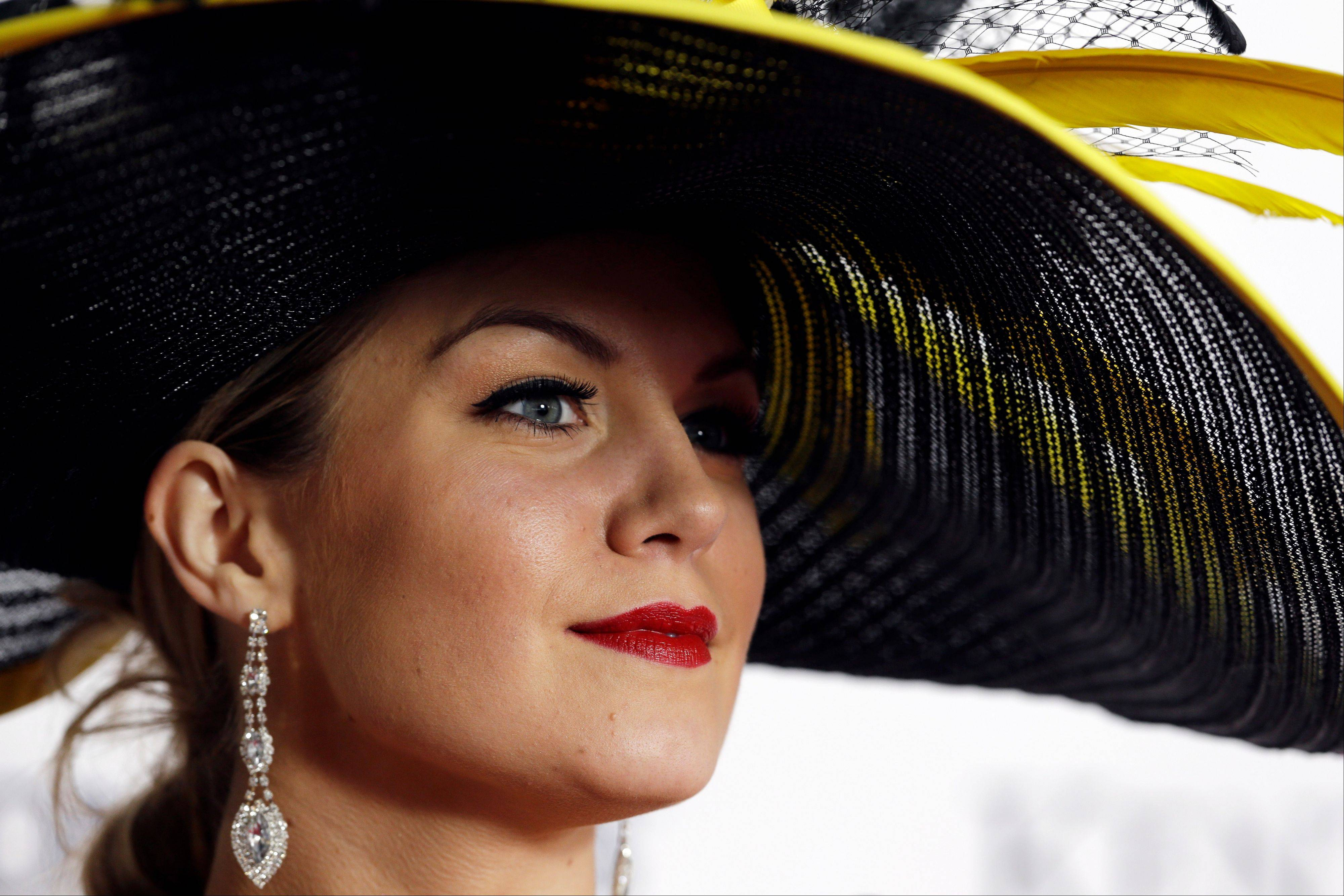 Miss American 2013 Mallory Hagan arrives to attend the 139th Kentucky Derby at Churchill Downs.