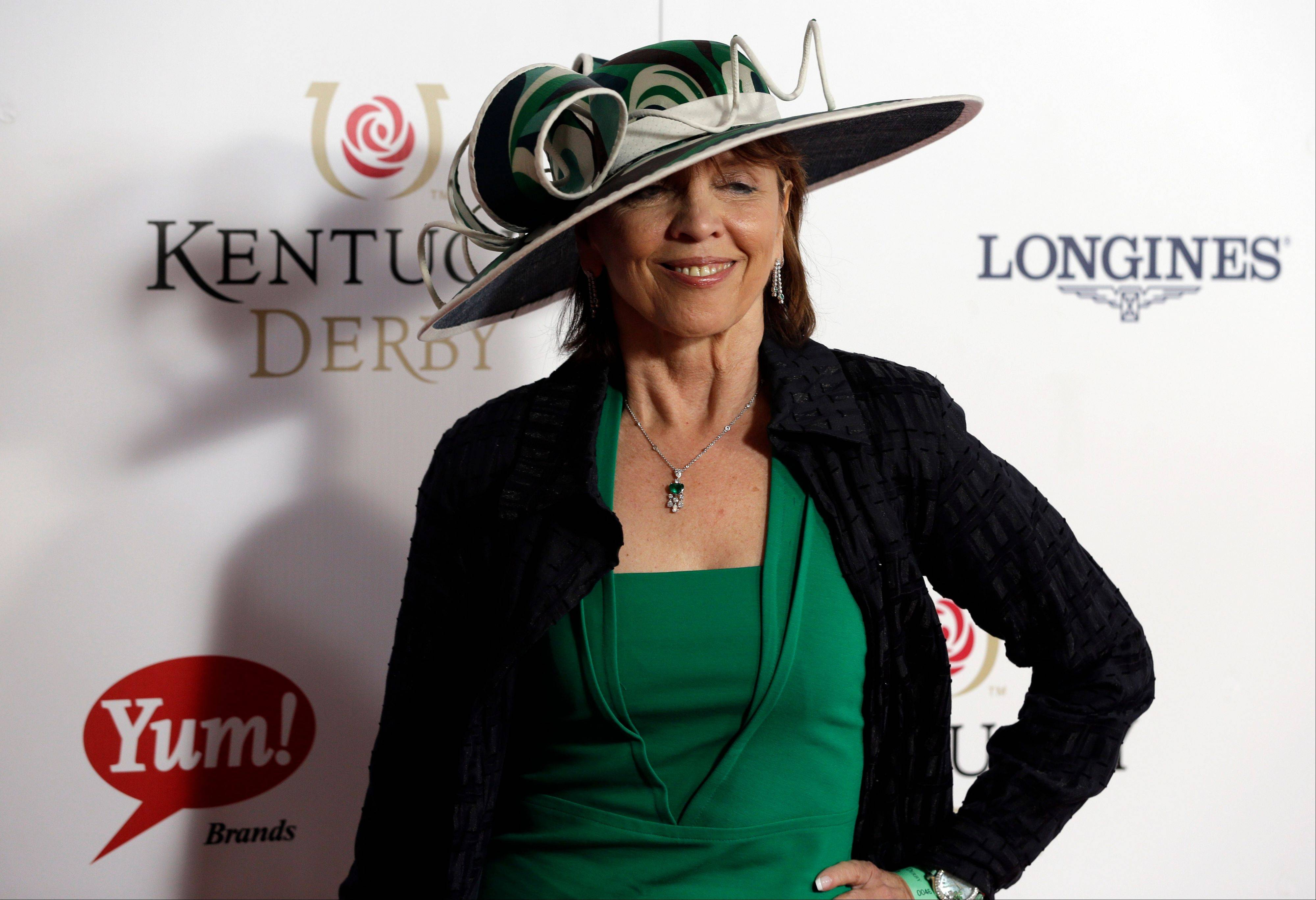Author Nora Roberts arrives to attend the 139th Kentucky Derby at Churchill Down.