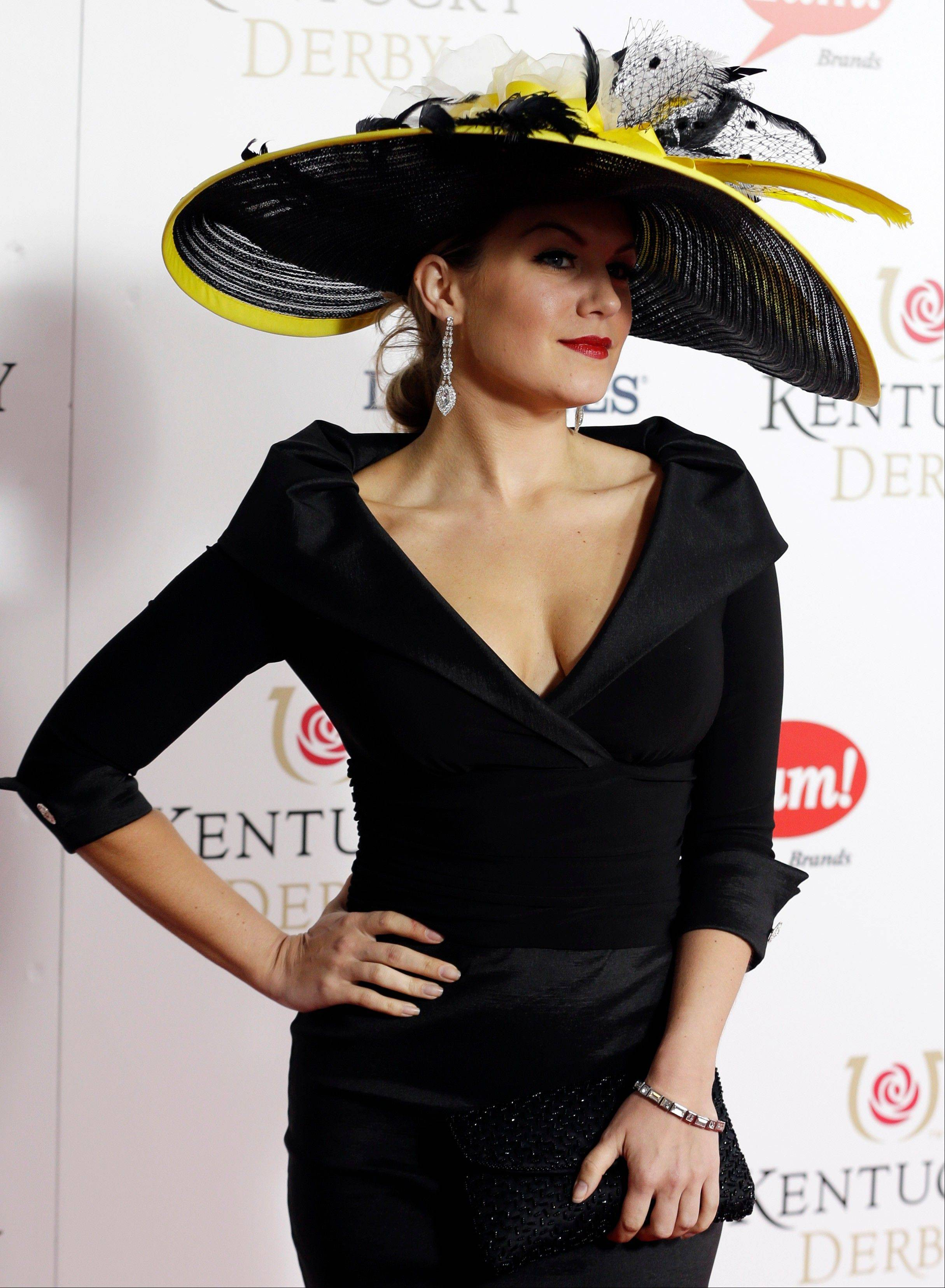 Miss American 2013 Mallory Hagan arrives to attend the 139th Kentucky Derby.