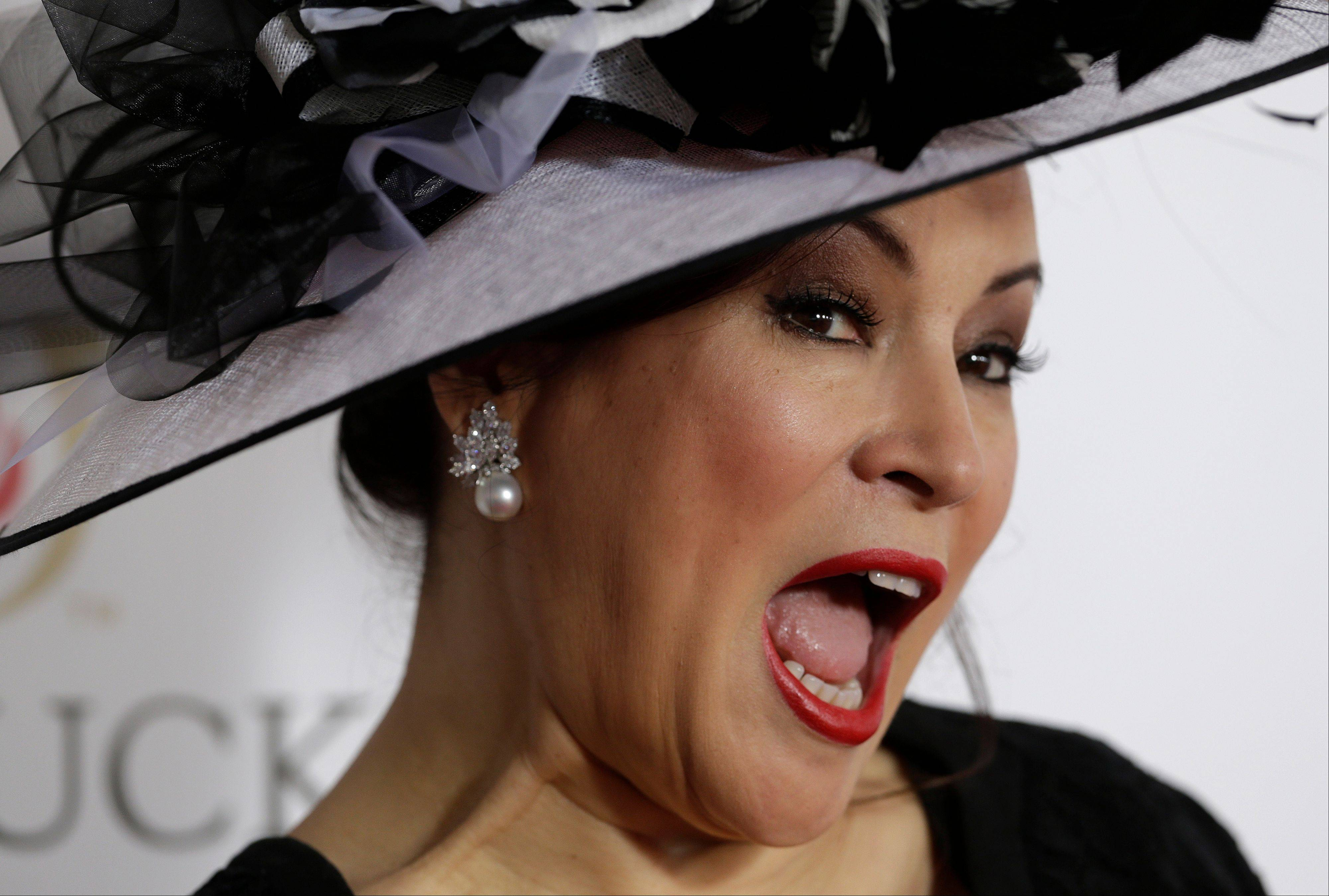 Jennifer Tilly arrives at the 139th Kentucky Derby.