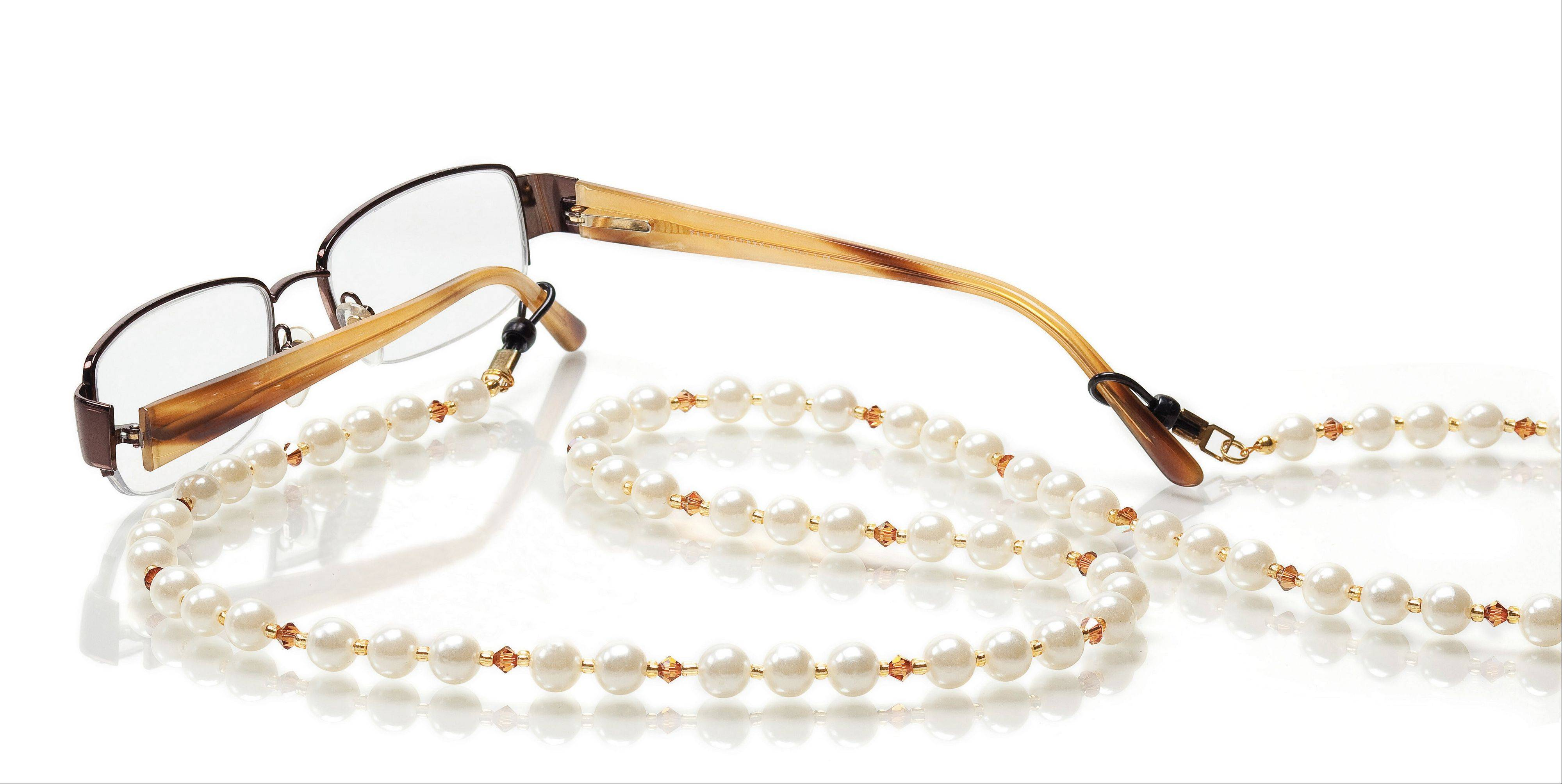 """Eyeglass chains are a great way to accentuate your personality while also providing a utilitarian use,"" keeping glasses safe and handy, says Michelle Sacia, a craft specialist with Jo-Ann Fabric and Craft Stores."