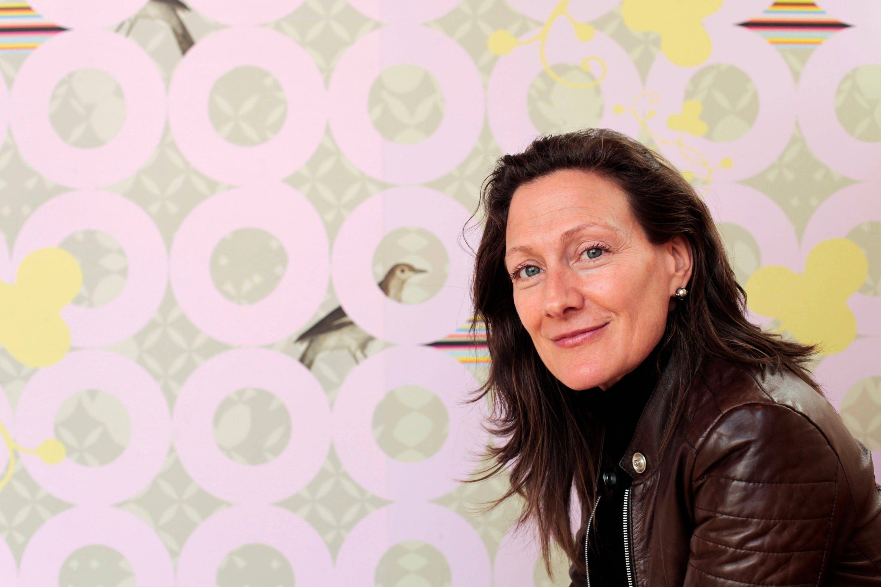 Sarah Rowland designs custom wallpapers, including this one for Dixie Donuts in Richmond, Va.