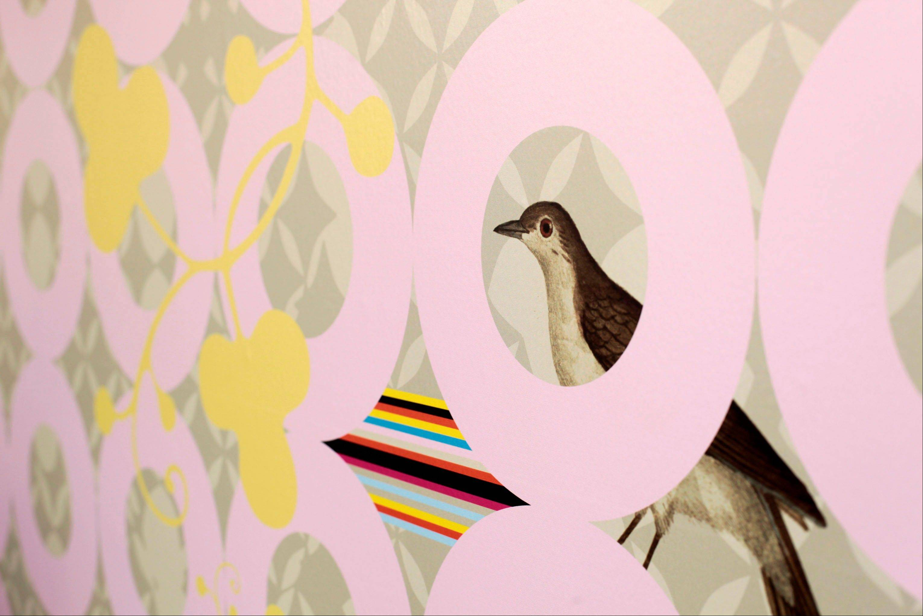Custom wallpaper Sarah Rowland designed for Dixie Donuts in Richmond, Va.