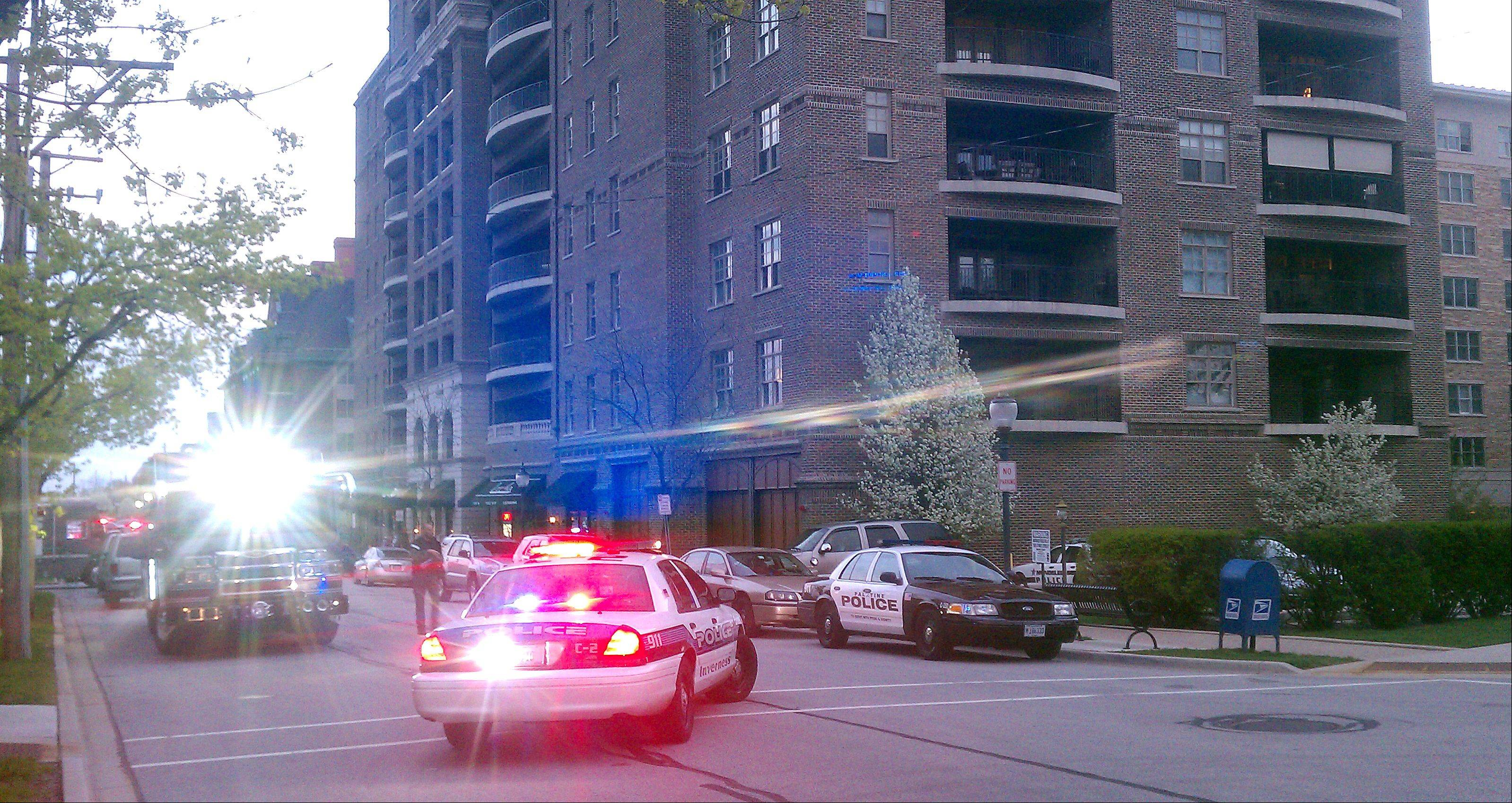 Arlington Heights police have deployed a SWAT team and dozens of police officers near Campbell and Wing streets in downtown Arlington Heights as of about 6:30 p.m. Saturday. A portion of the downtown, including Wing Street, was blocked off.