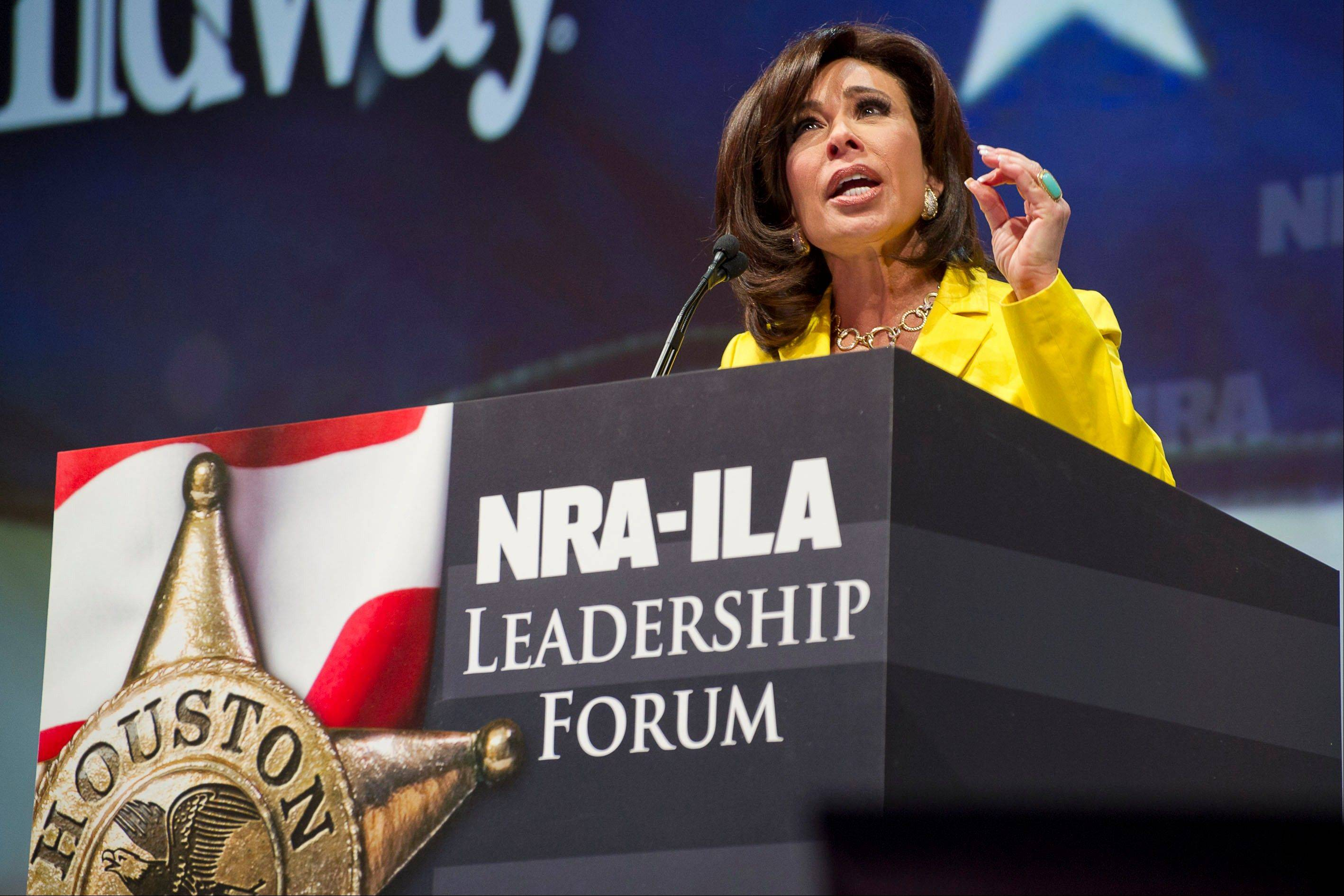 TV personality Jeanine Pirro speaks during the leadership forum.