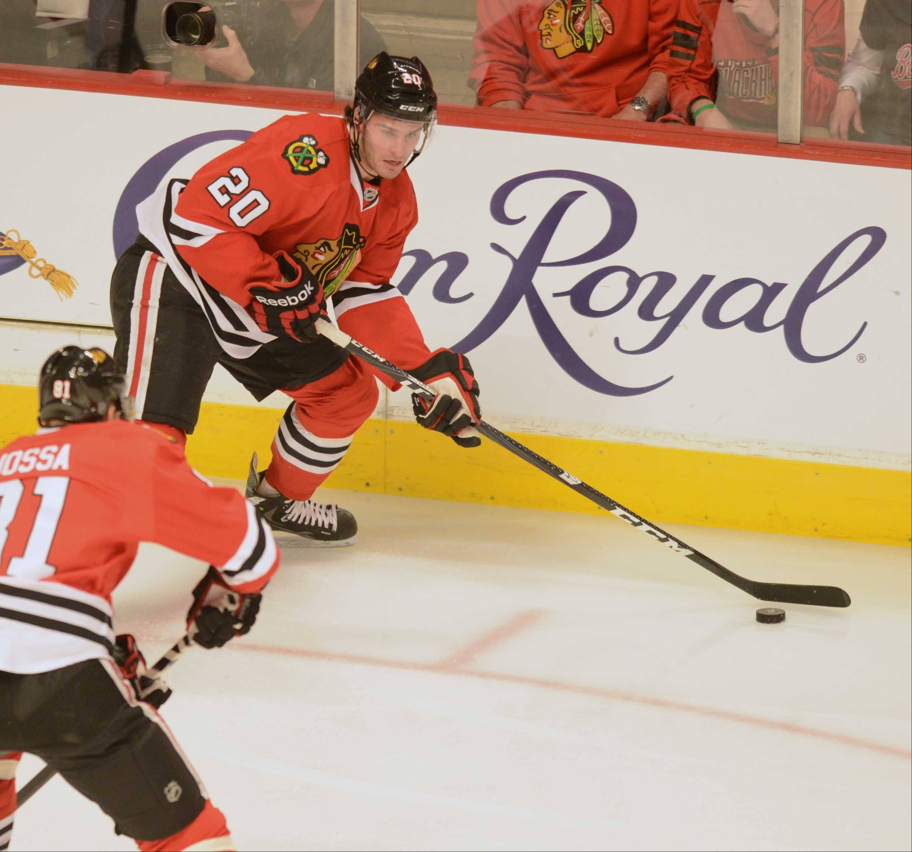 The Western Conference first-round NHL playoff series between the Chicago Blackhawks and the Minnesota Wild on Friday night at the United Center in Chicago.