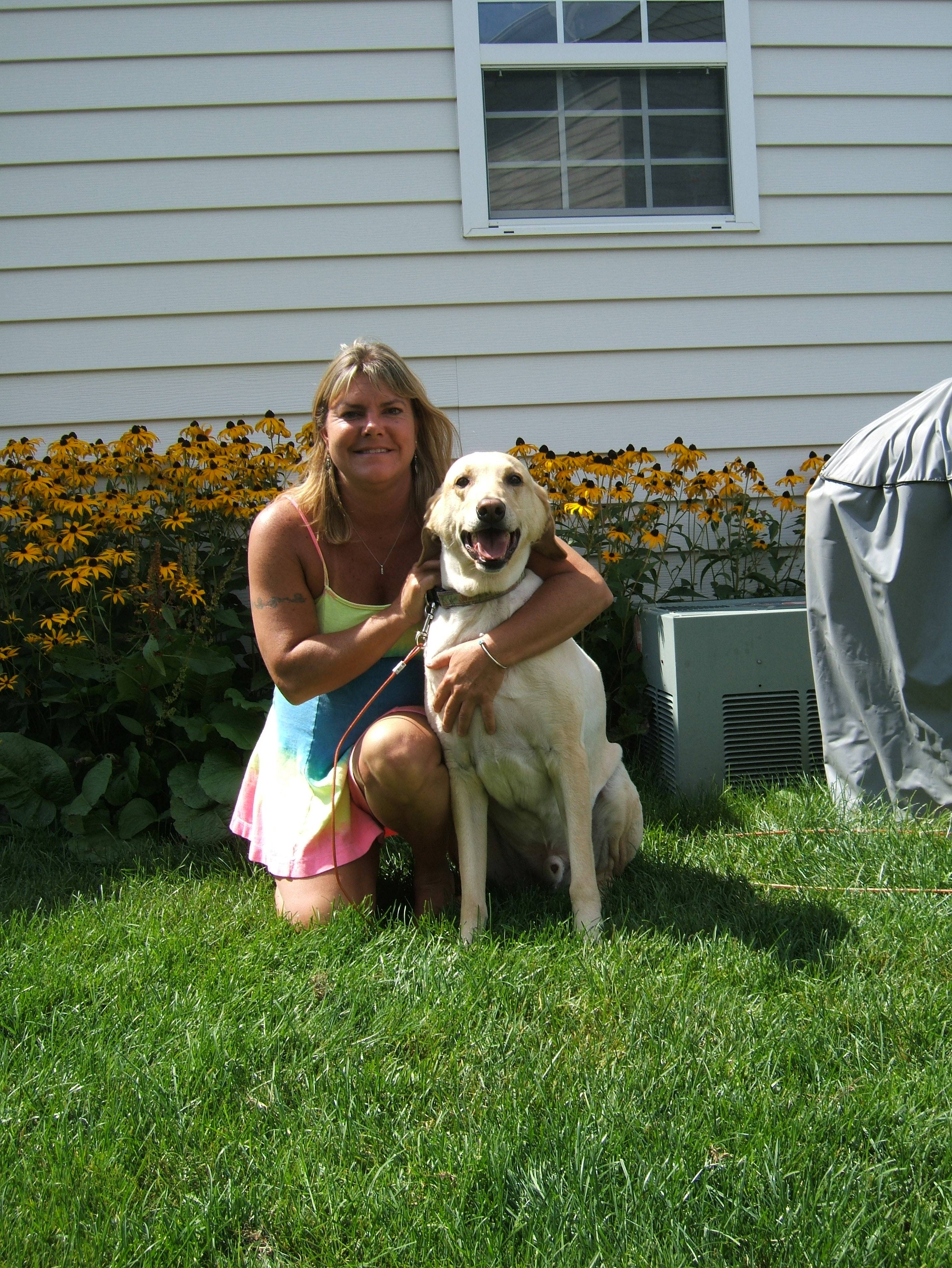 Laurie with her Lab Sebastian