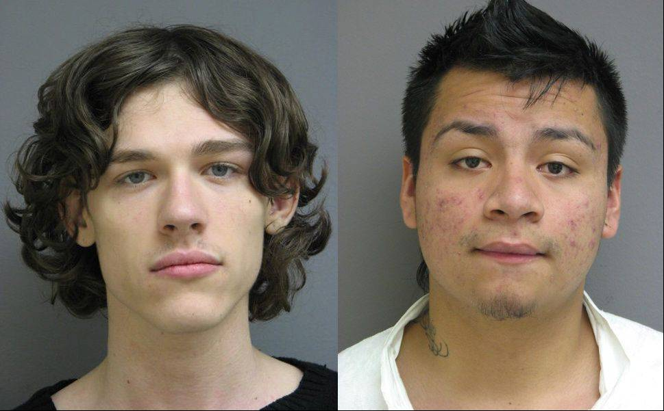 Collin Scheffler, left, and Jesus Sanchez