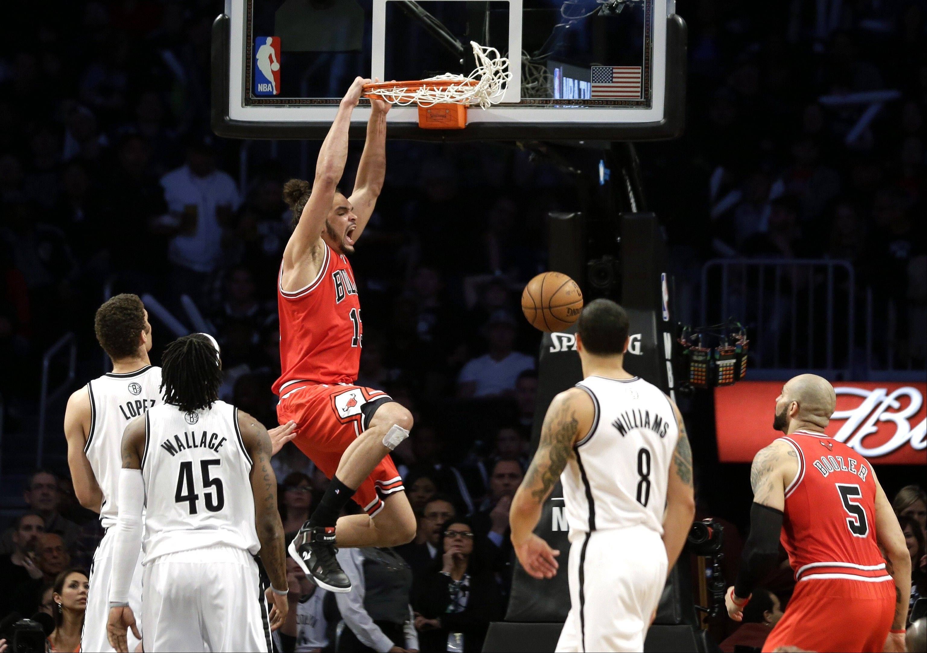 Bulls center Joakim Noah continues to slam home his points about extra effort and team play being keys to winning.