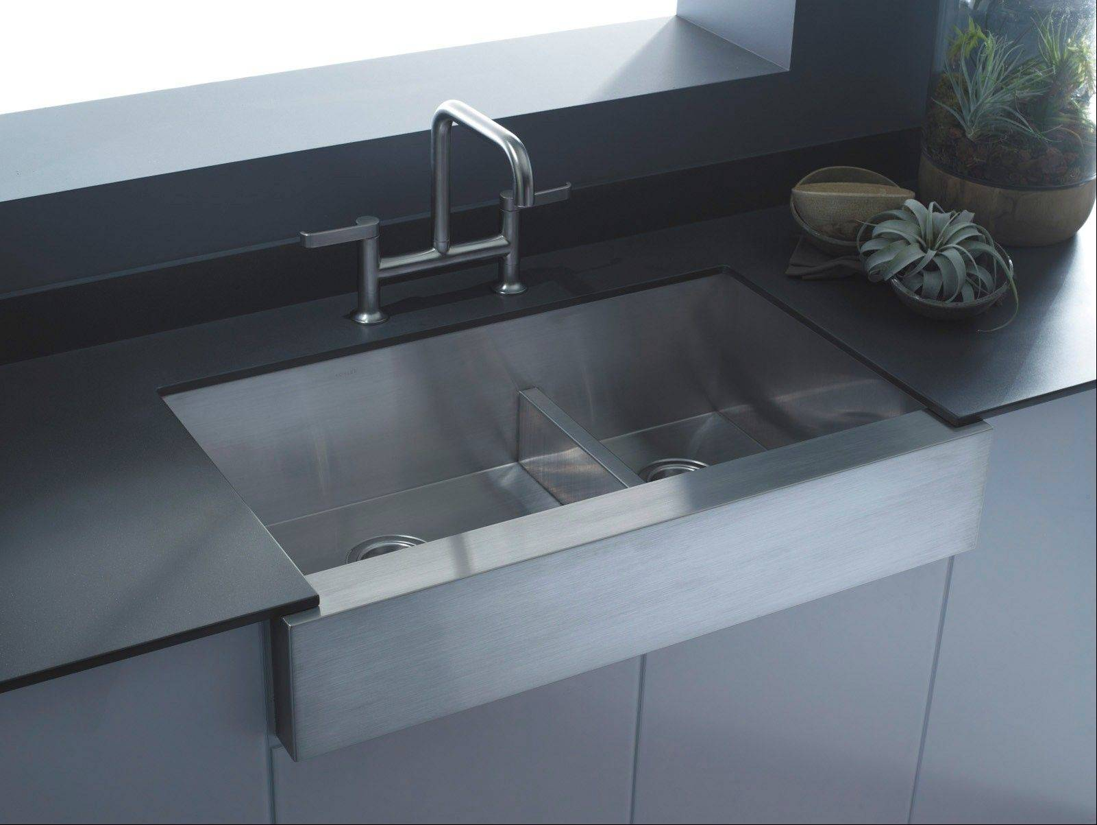 A smart-divide sink can be a good choice for any new kitchen.