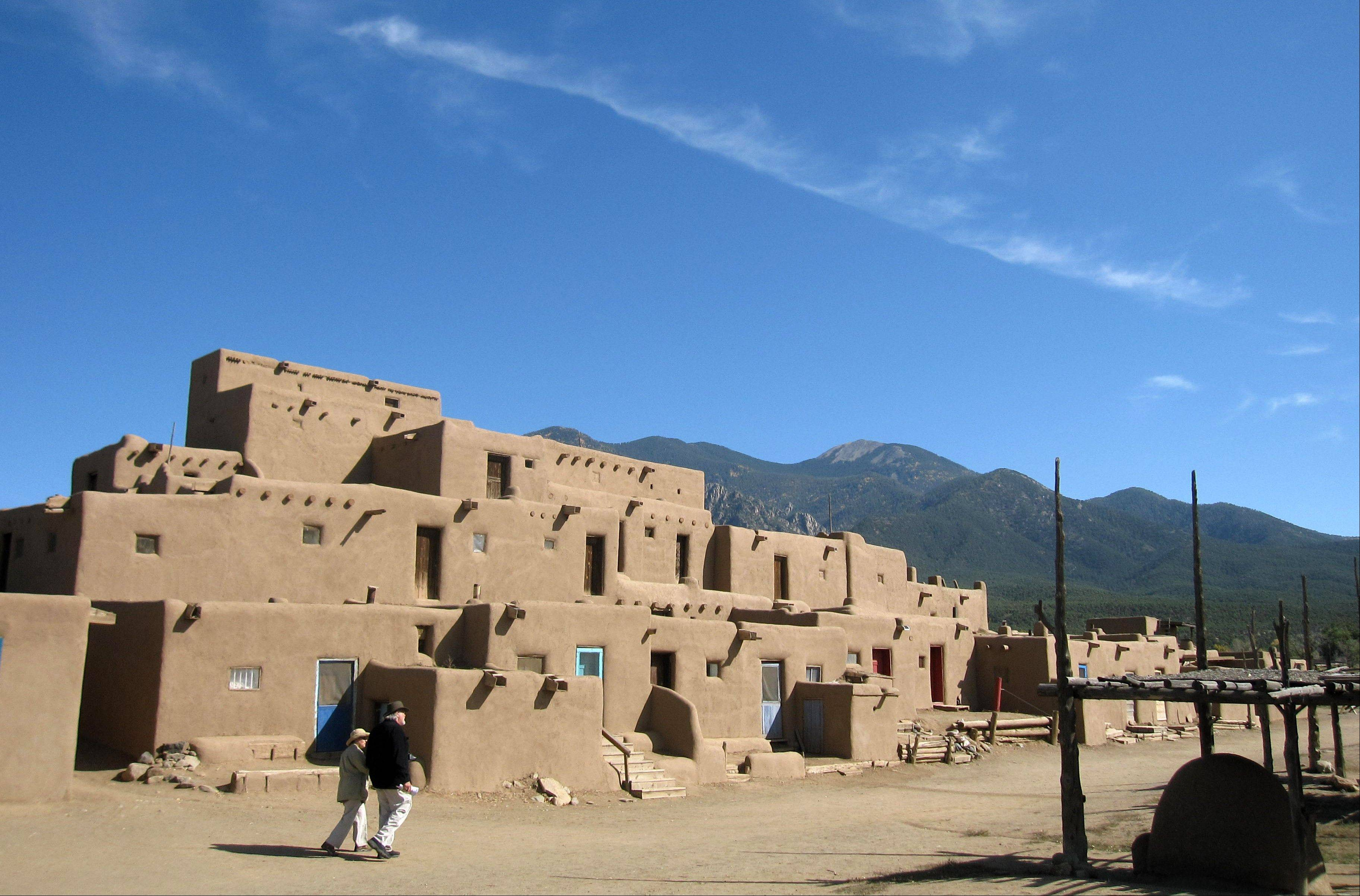 Adobe dwellings at the Taos Pueblo in Taos, N.M., a UNESCO World Heritage site where the Taos native people have lived for 1,000 years.