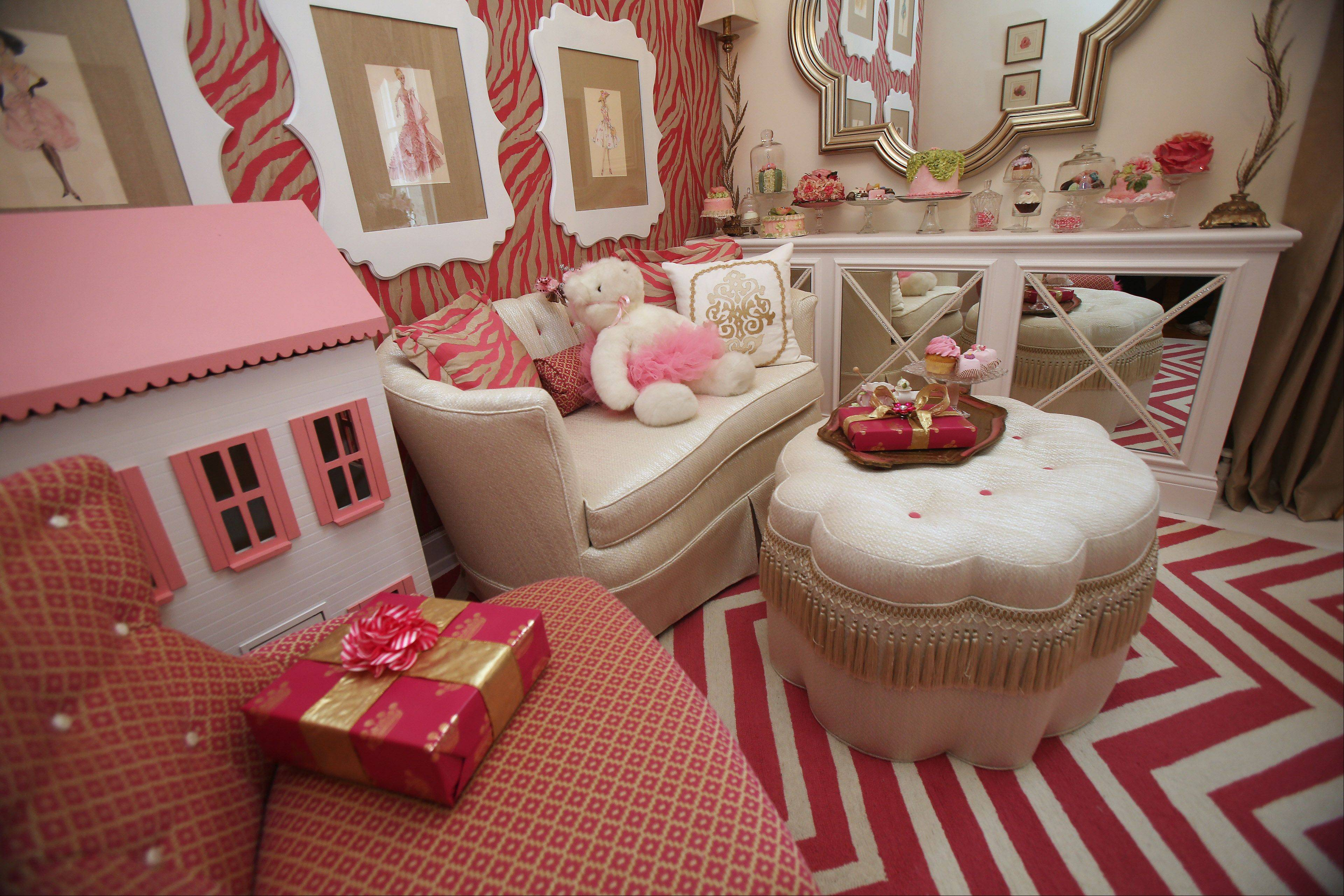 Kendelle Cornette of Lake Forest decided the Girl's Playroom needs pink.