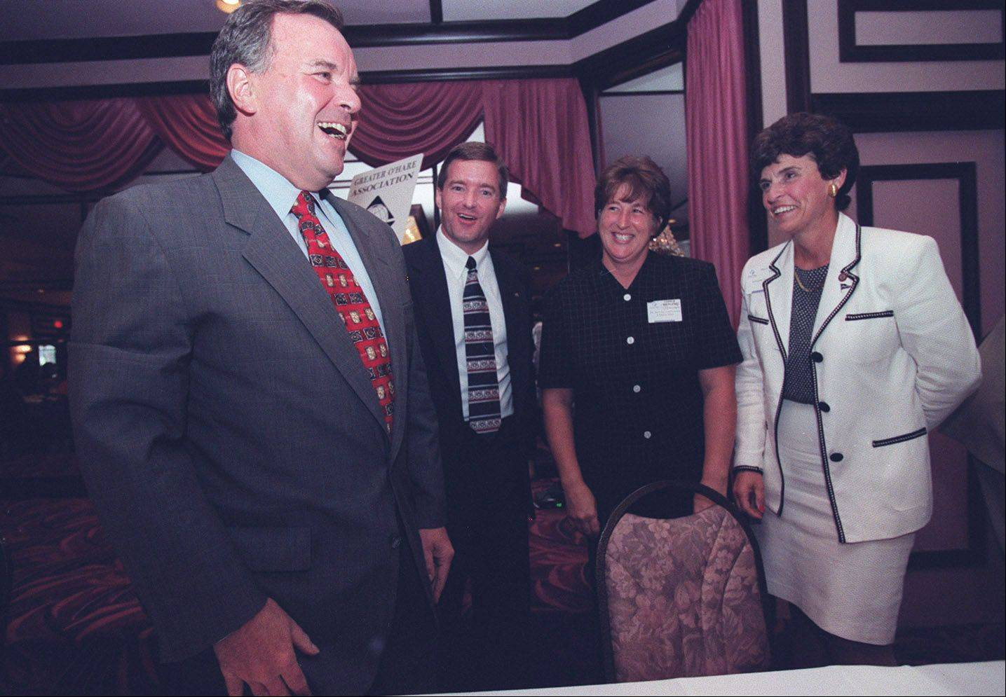 Mulder, far right, at a 1997 luncheon for the Greater O'Hare Association of Industry and Commerce with Chicago Mayor Richard M. Daley, Elk Grove Mayor Craig Johnson and Lisa Zeigler, vice president of marketing and communications with the GOA.
