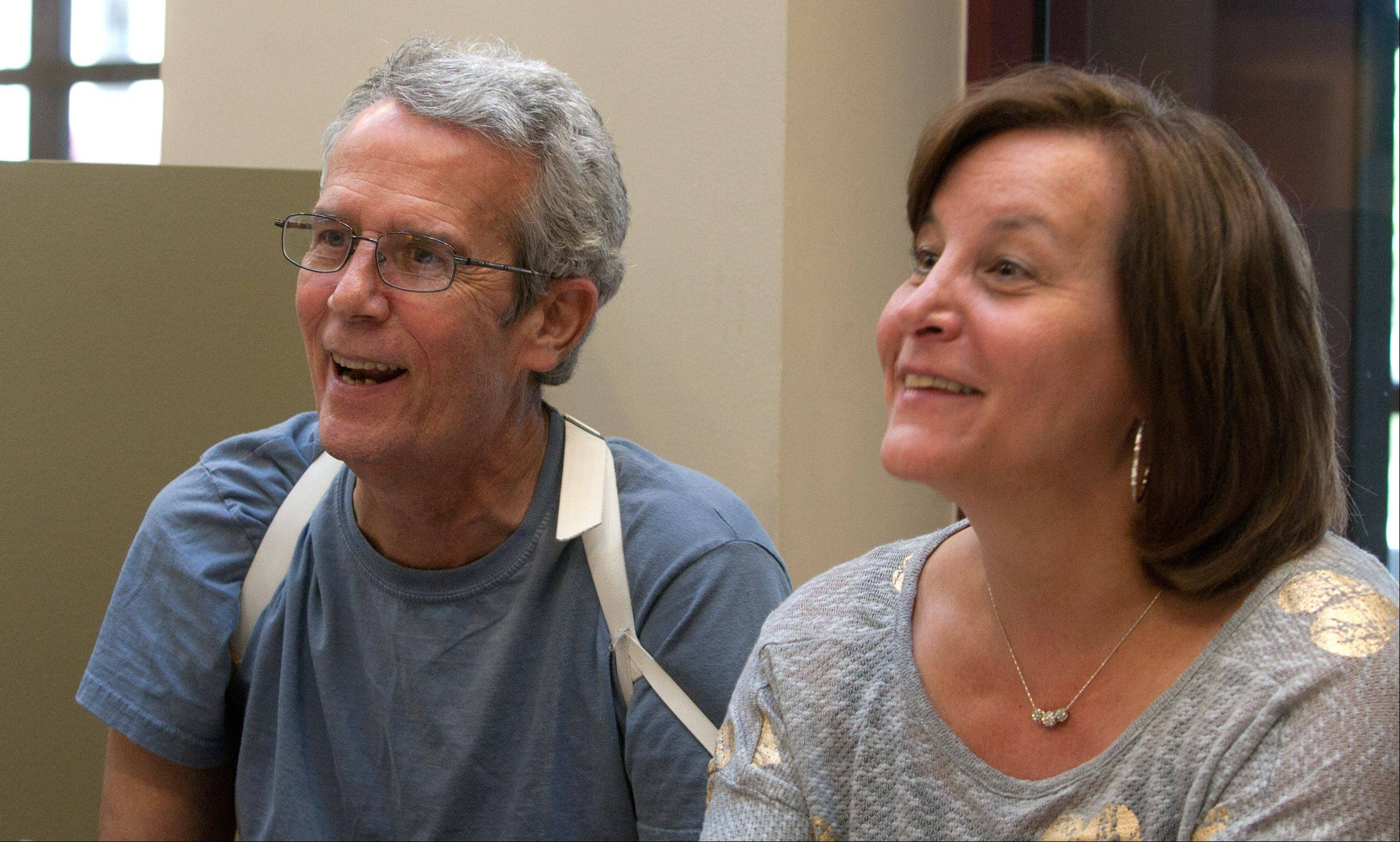 Cheryl Johnstone, right, provided guidance during many trials and tribulations.