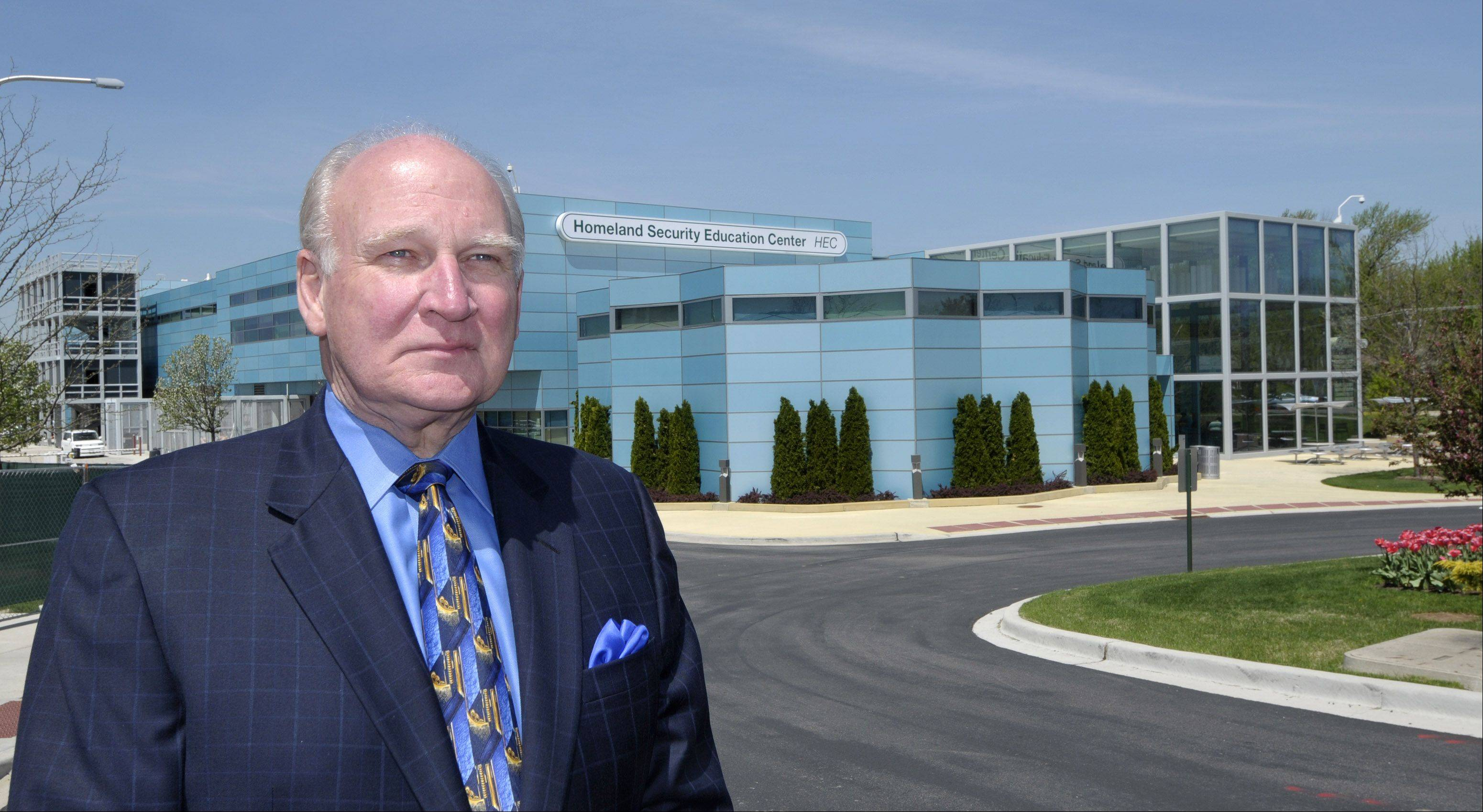 The Homeland Security Education Center at the College of DuPage will be named in honor of college President Robert Breuder upon his retirement, according to a resolution passed Tuesday by the outgoing board of trustees.