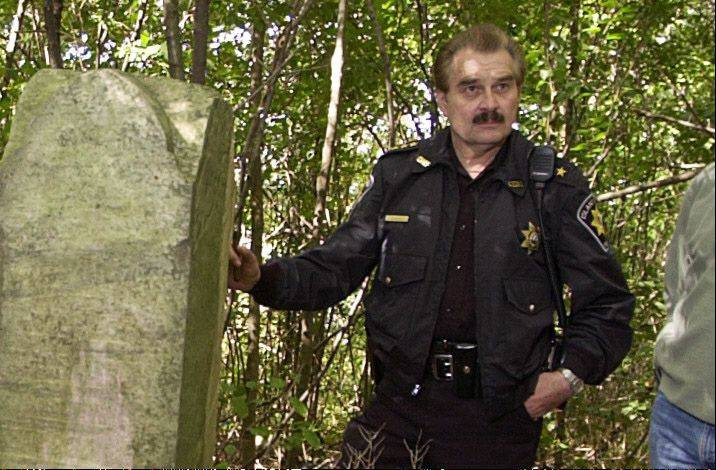 Former Island Lake Police Chief Don Bero, here touring a cemetery in 2004, has been nominated to be the town�s next chief.
