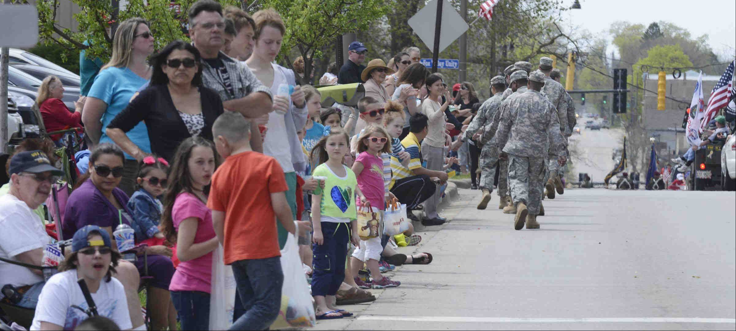 Crowds lined all the curbs on Wilson Street and Route 25 on Sunday during the Batavia Loyalty Day Parade.