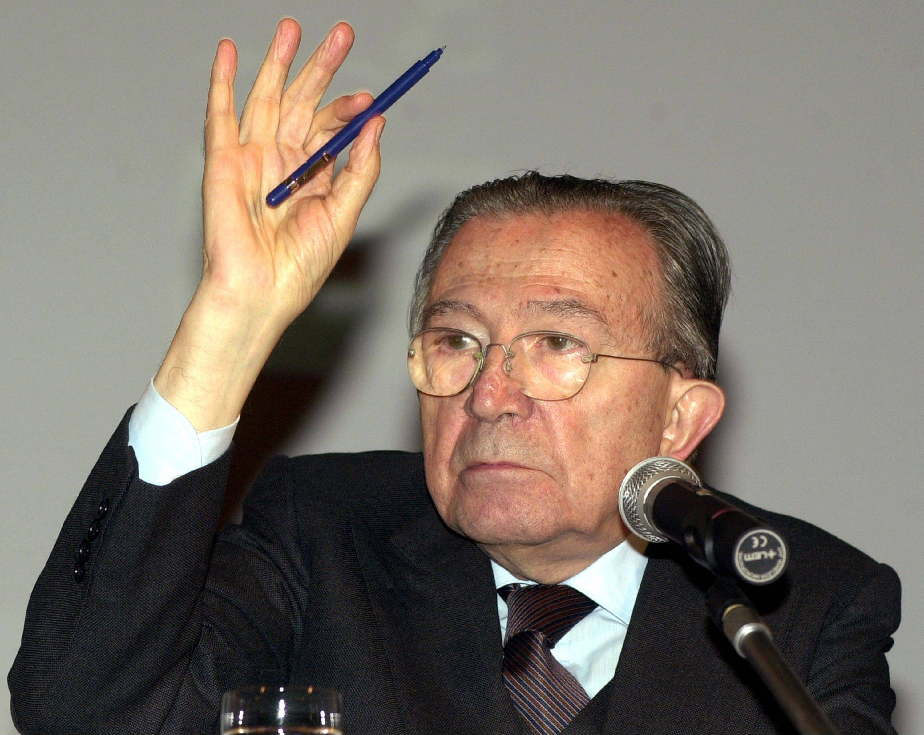 Italian state television says Giulio Andreotti, Italy's former seven-time premier, has died at age 94. At his prime, Andreotti was one of Italy's most powerful men: he helped draft the country's constitution after World War II, sat in parliament for 60 years and served as premier seven times.