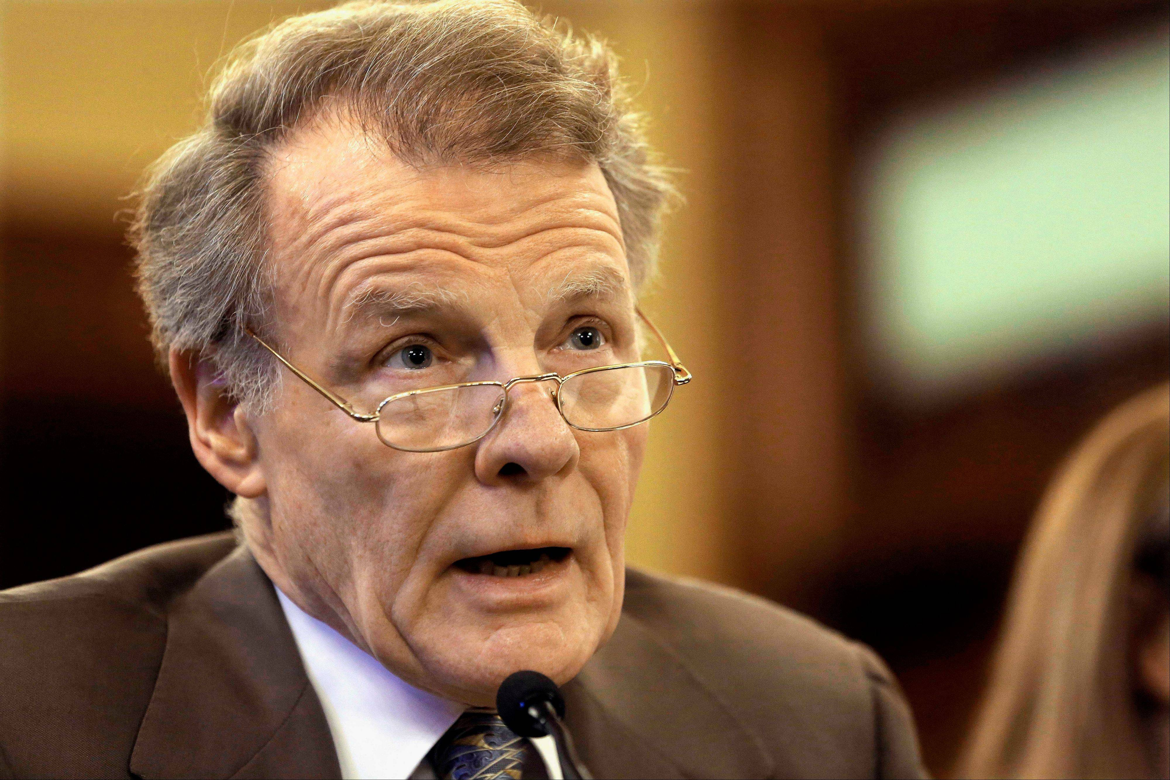 Speaker of the House Michael Madigan's pension plan calls for, among other things, higher contributions by employees and limits on how much in pension benefits retirees may collect.