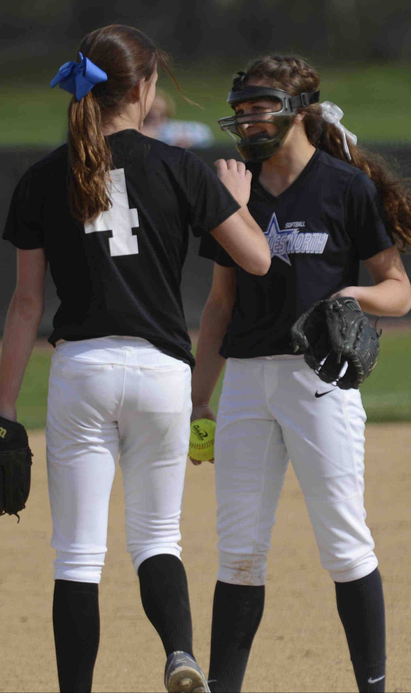 St. Charles North's Kaitlyn Waslawski, who hit a home run and drove in the game-clinching run, and pitcher Sabrina Rabin were two keys in the North Stars' win Monday.