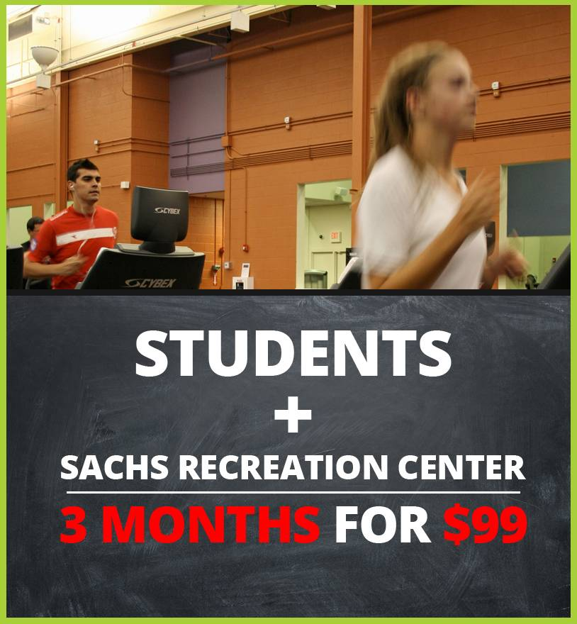 Students may purchase a 3-month summer fitness membership for only $99 at the Sachs Recreation Center in Deerfield.