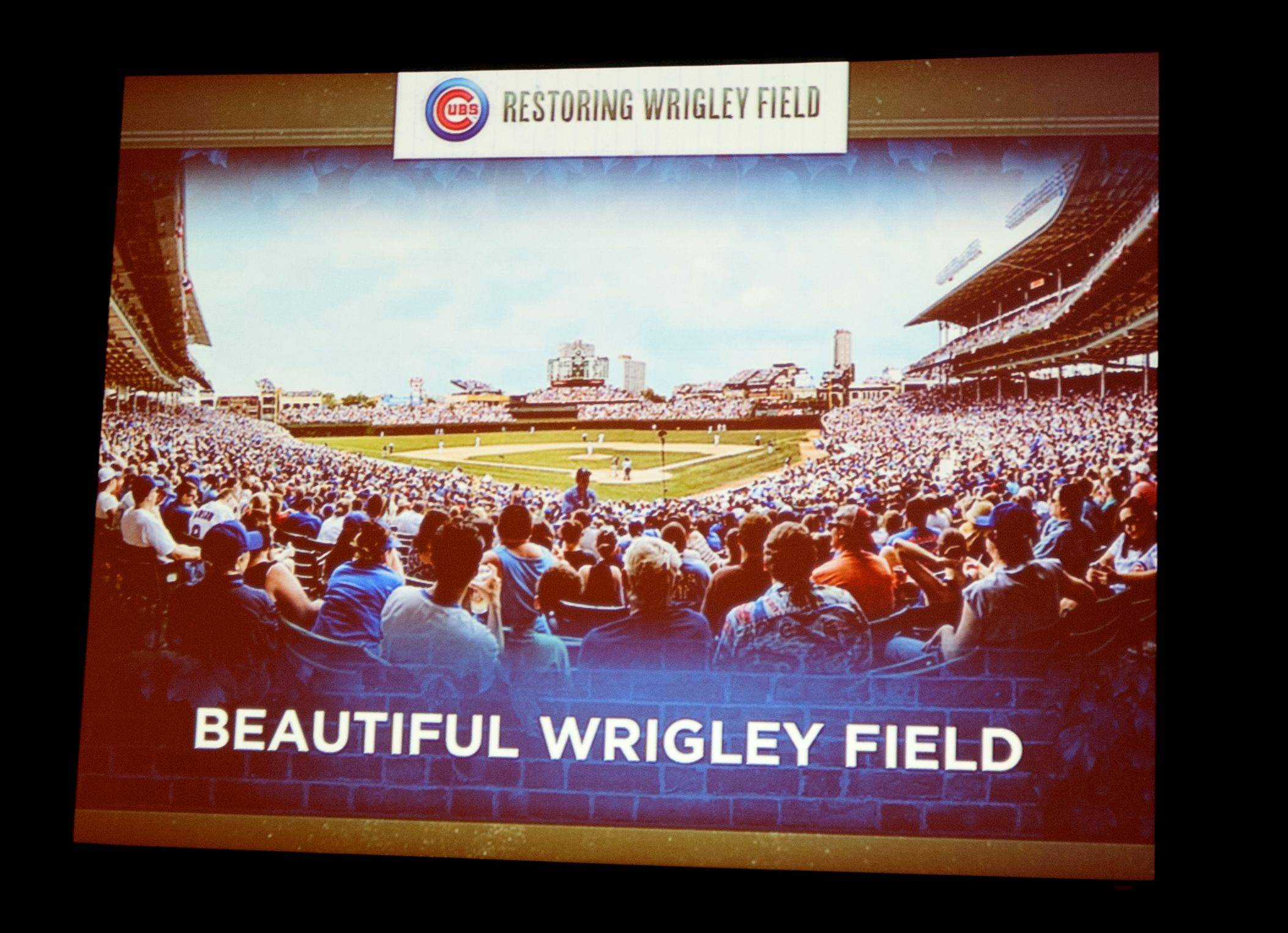 A rendering of the view Cubs fan would have from a renovated Wrigley Field.